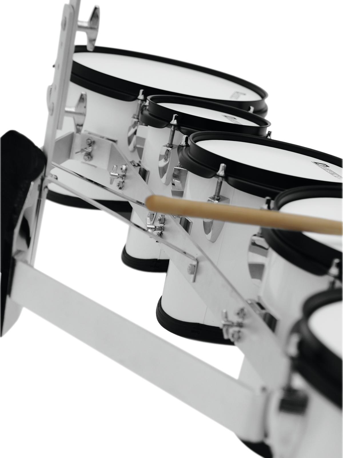 Drum-set da marcia per tamburi, bianco, DIMAVERY MT-530