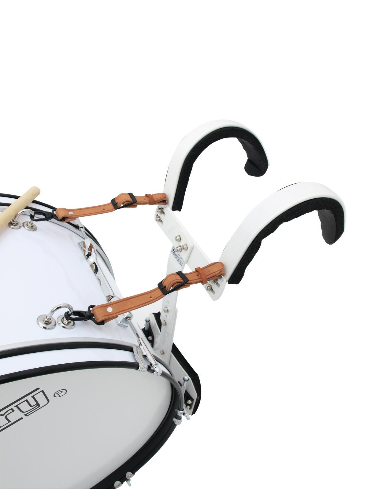 Drum-set da marcia per tamburo, bianco, 24x12 DIMAVERY MB-424