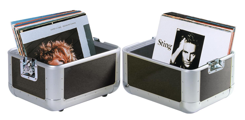 Flight Case Alu For 80 Vinyl Discs With Inner Sponge ROADINGER