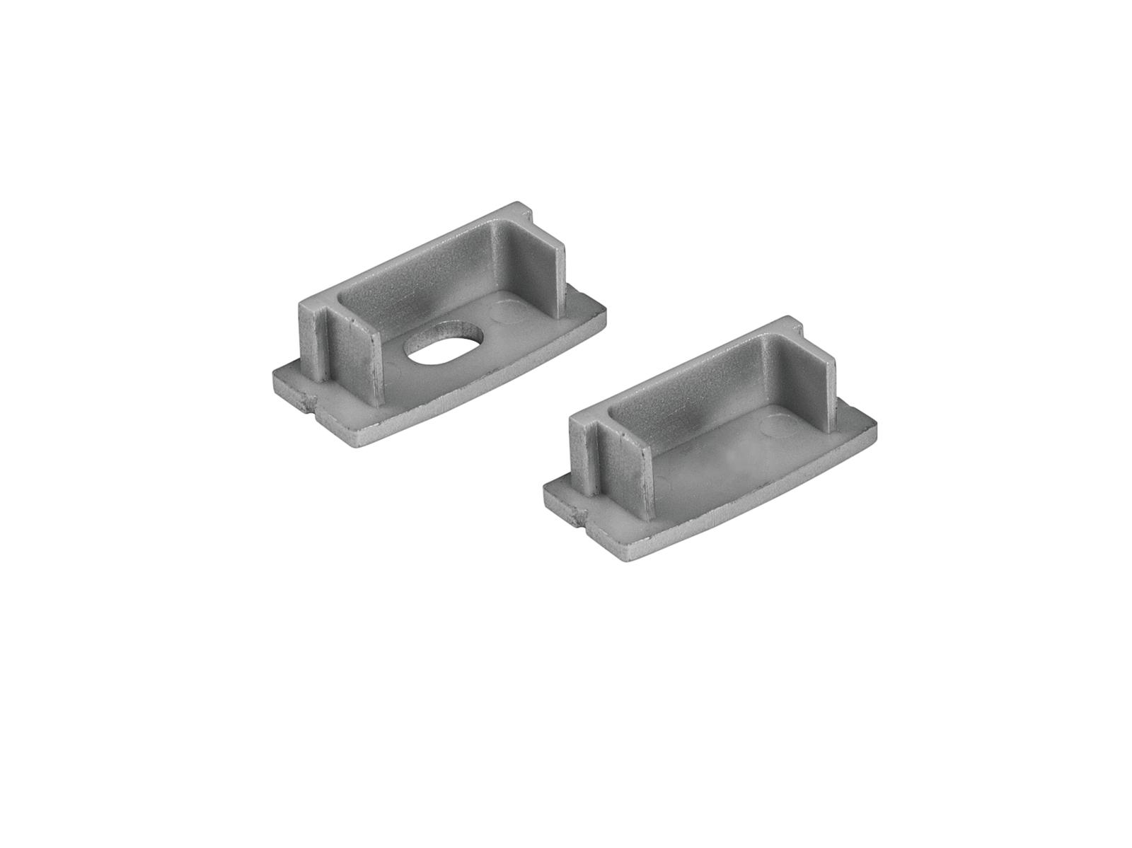 EUROLITE Endkappen für U-Profil 20mm silber