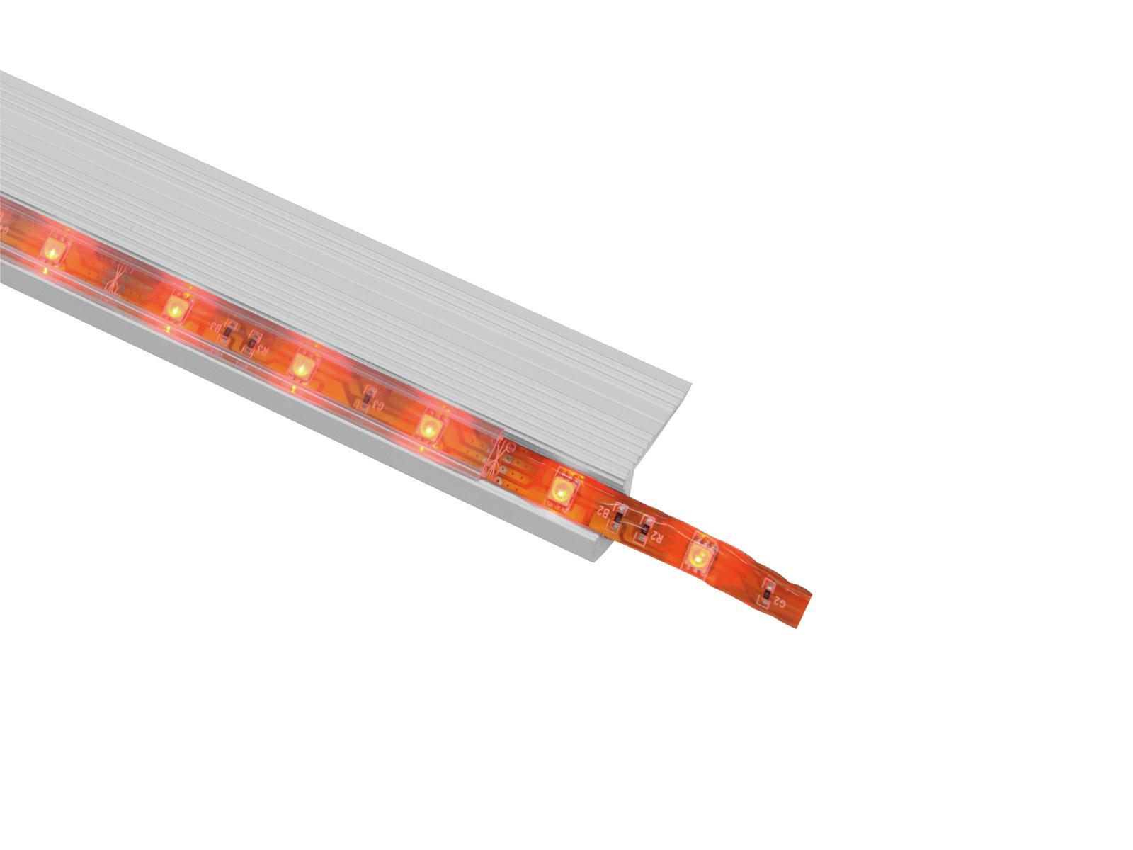 EUROLITE di Copertura per la striscia del LED profilo chiaro 2m