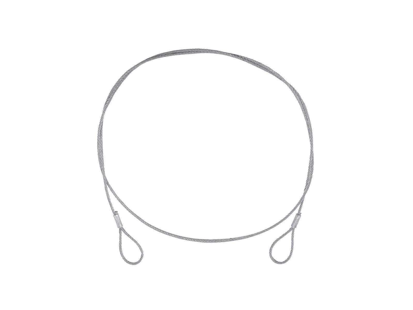 EUROLITE Stahlseil (FC) 900x3mm silber ohne Verbinder