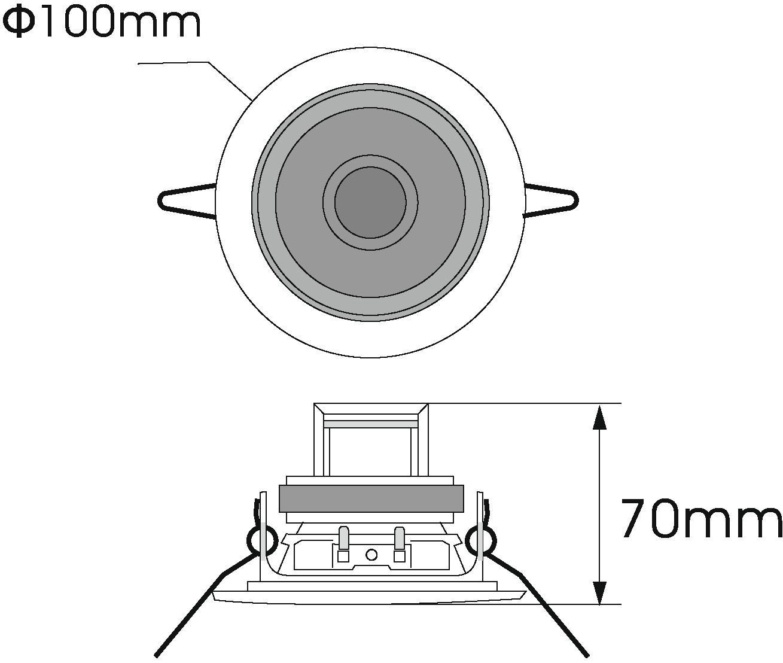 Cassa diffusore da soffitto parete 6 watt OMNITRONIC CS-2.5 C