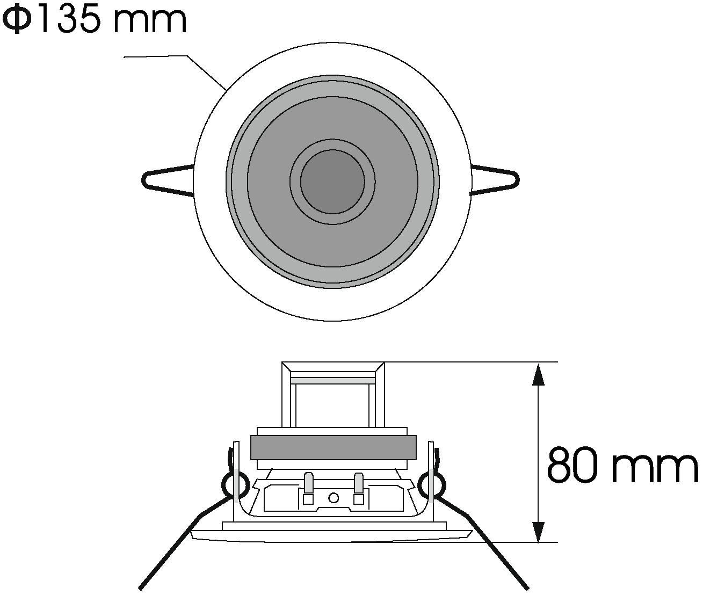Cassa diffusore da soffitto parete 6 watt OMNITRONIC CS-4W