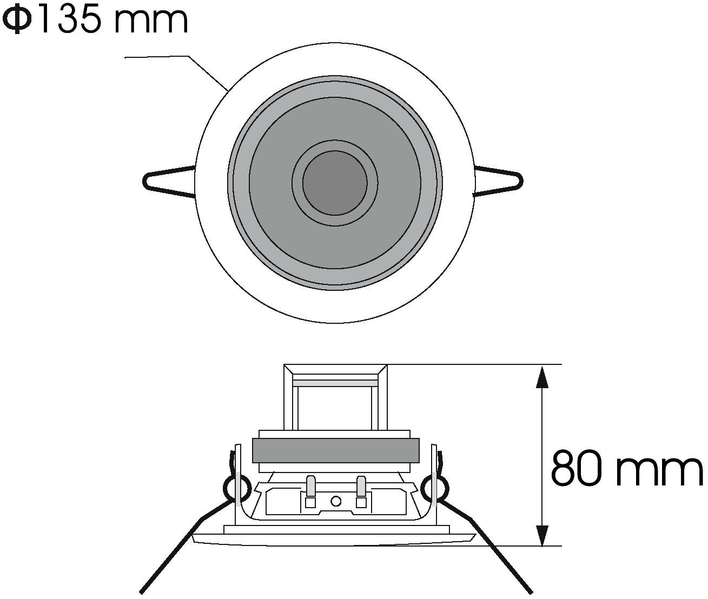 Cassa diffusore da soffitto parete 6 watt OMNITRONIC CS-4C