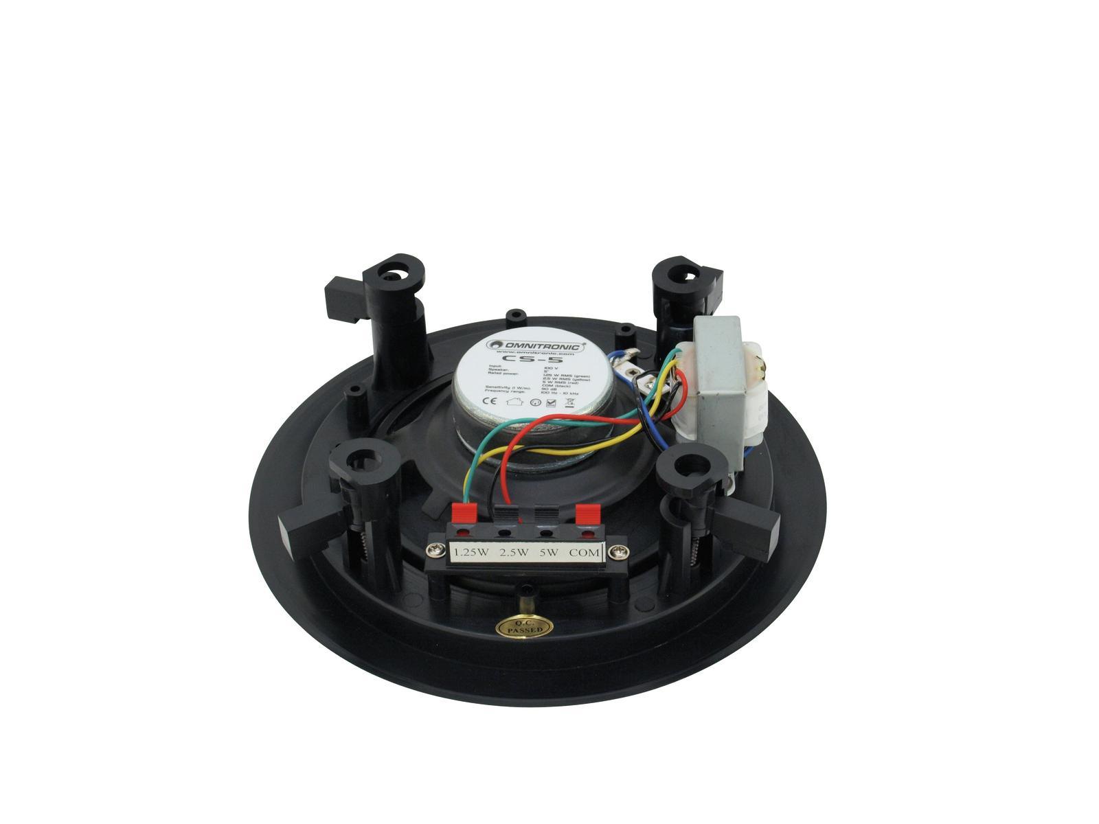 Cassa diffusore da soffitto parete 6 watt OMNITRONIC CS-5 nero