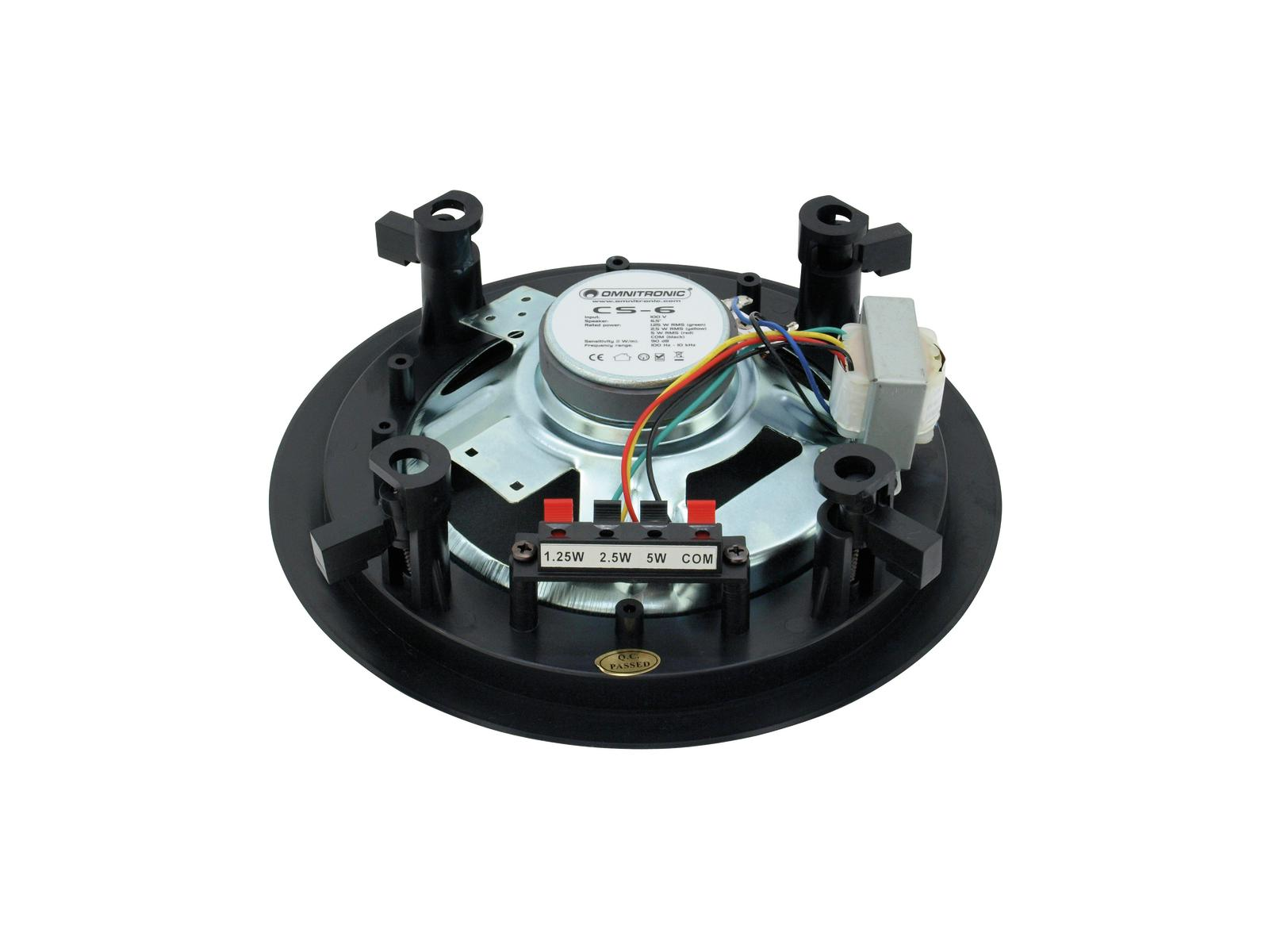 Cassa diffusore da soffitto parete 6 watt OMNITRONIC CS-6 nero