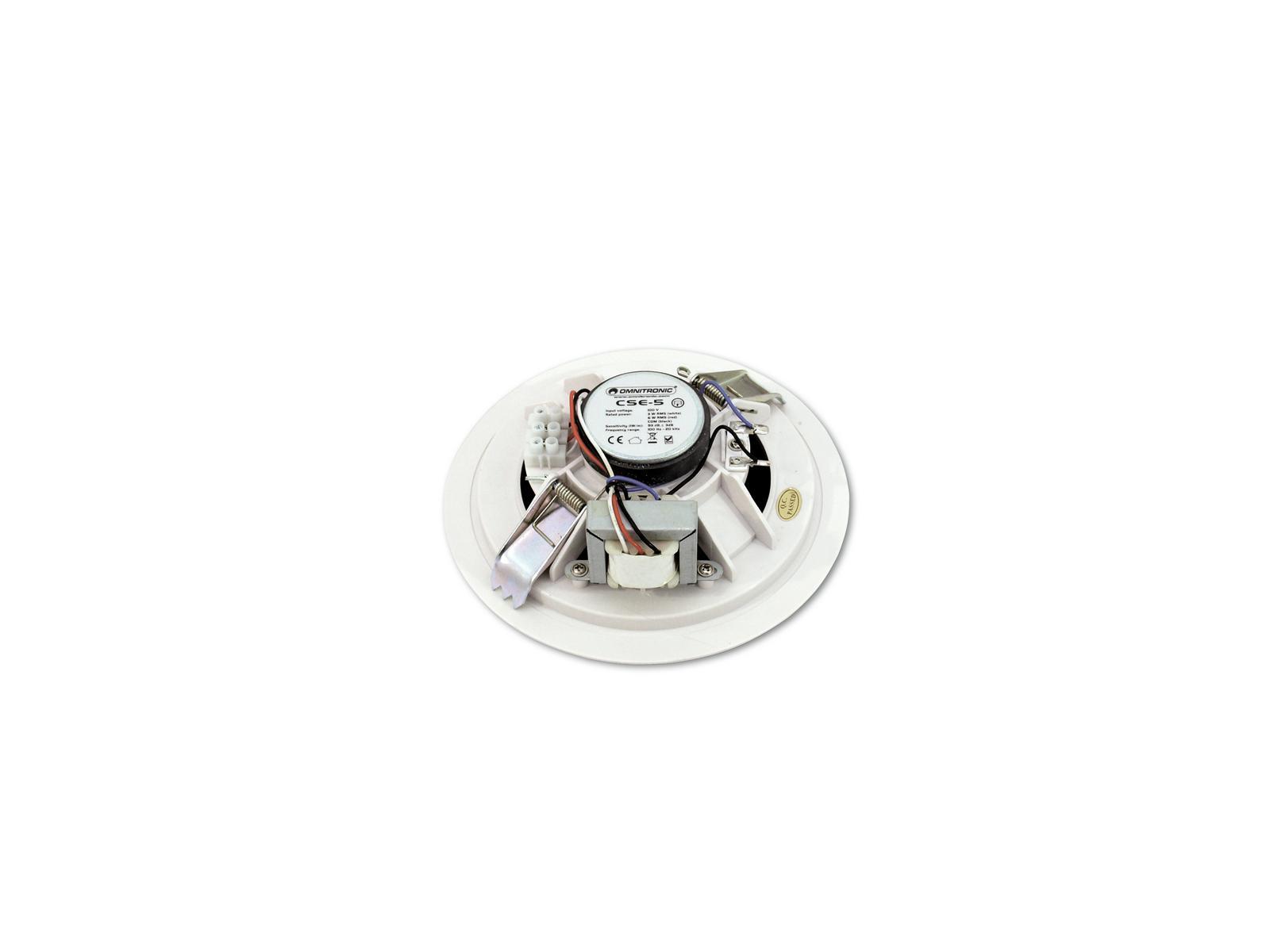 Cassa diffusore da soffitto parete 6 watt OMNITRONIC CSE-5