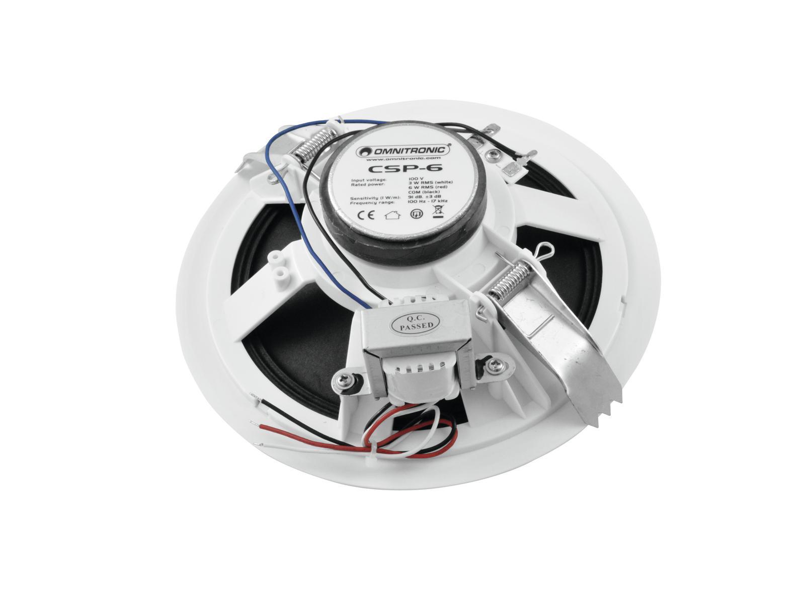 Cassa diffusore da soffitto parete 6 watt OMNITRONIC CSP-6