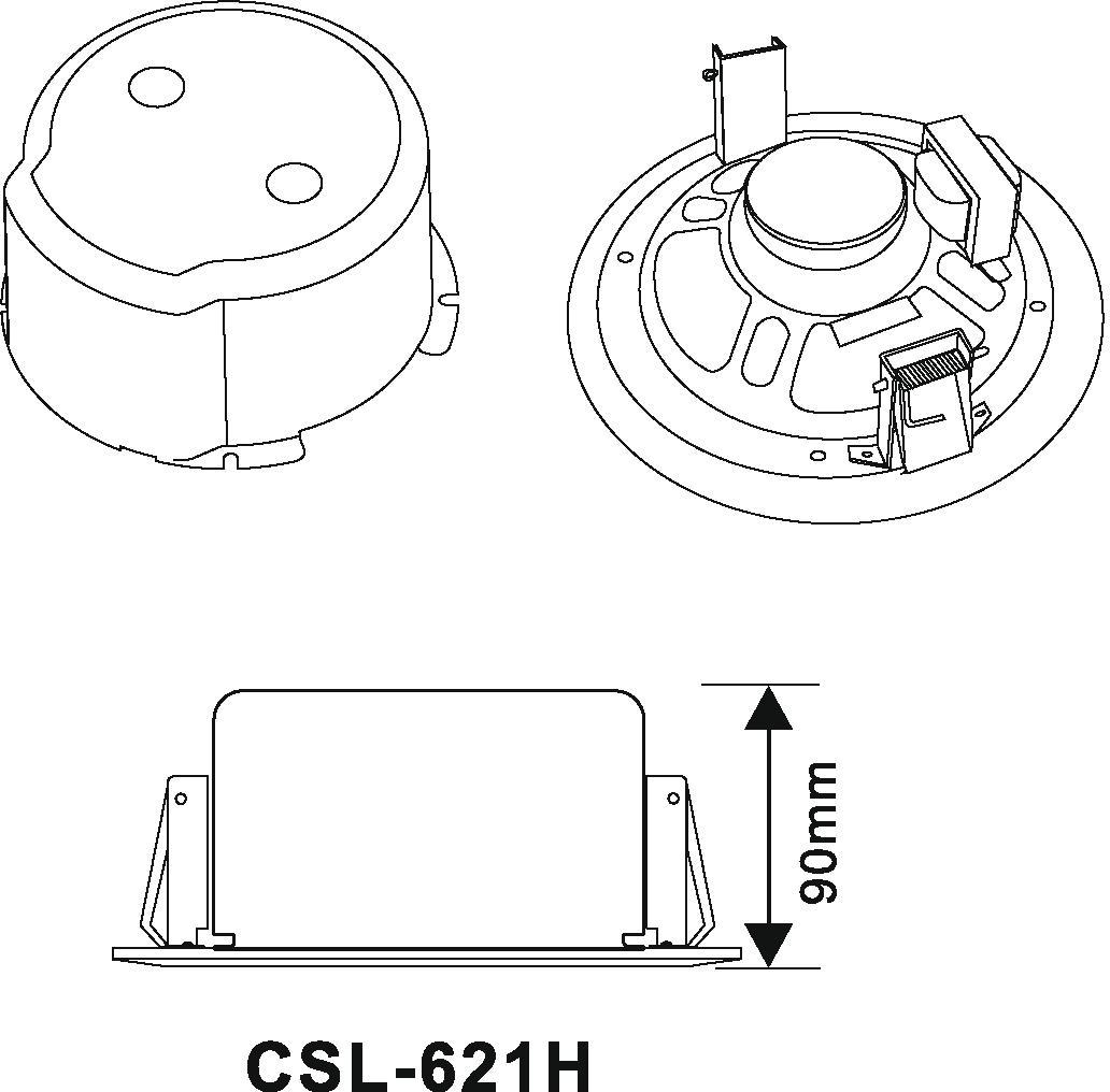 Cassa diffusore da soffitto parete 6 watt OMNITRONIC CSC-6