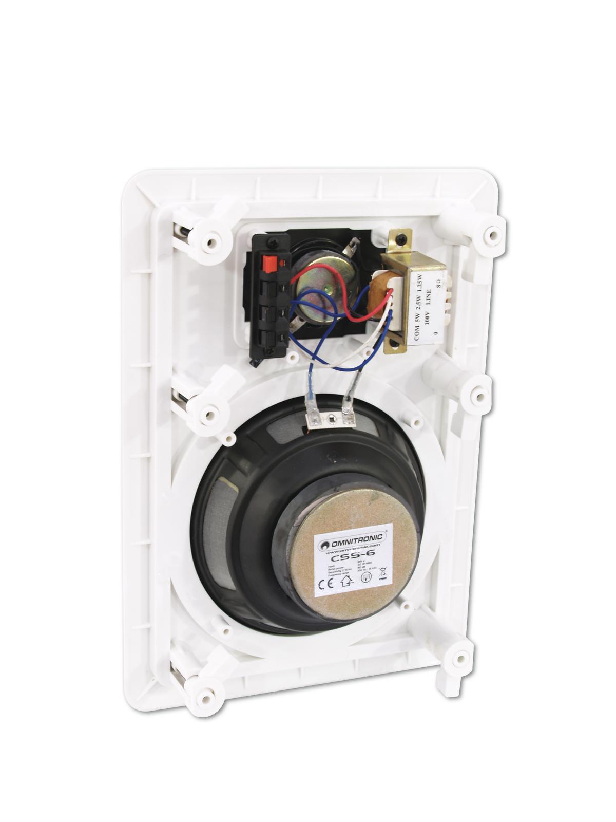 Cassa diffusore da soffitto parete 6 watt OMNITRONIC CSS-6