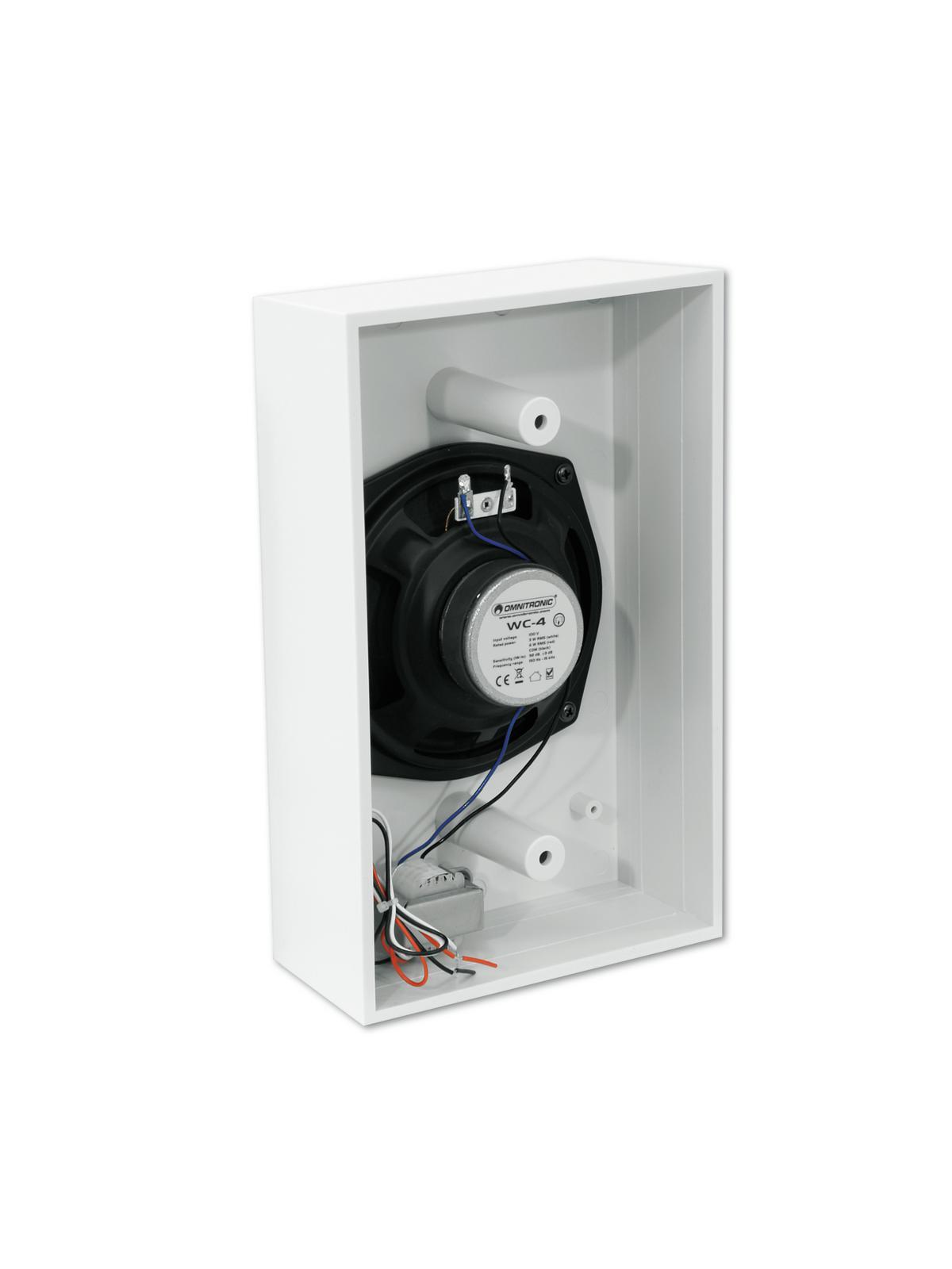Cassa diffusore da soffitto parete 6 watt WC-4 PA bianca