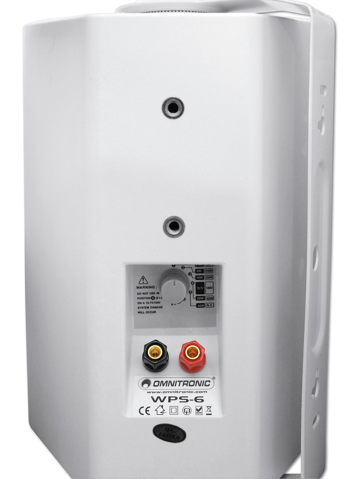Cassa diffusore da soffitto parete 40 watt OMNITRONIC WPS-6W  pa bianca