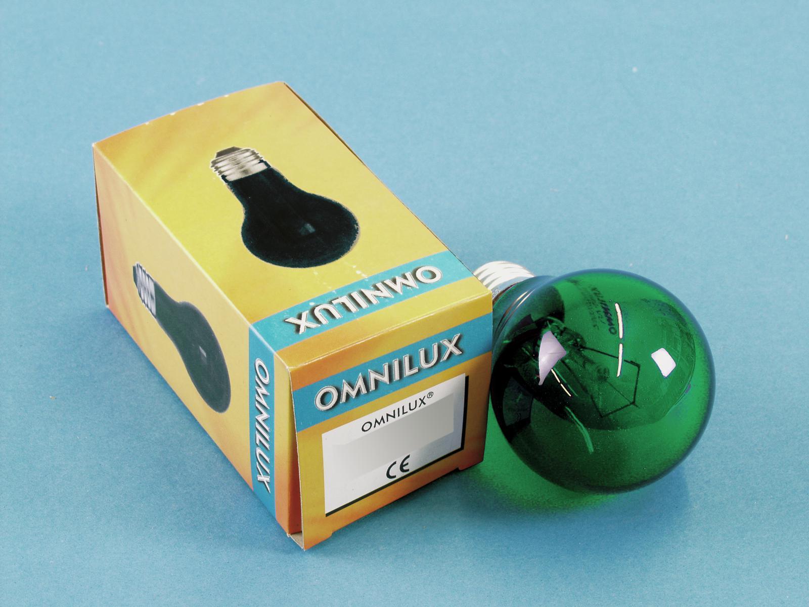 OMNILUX A19 230V 25W/E-27 verd