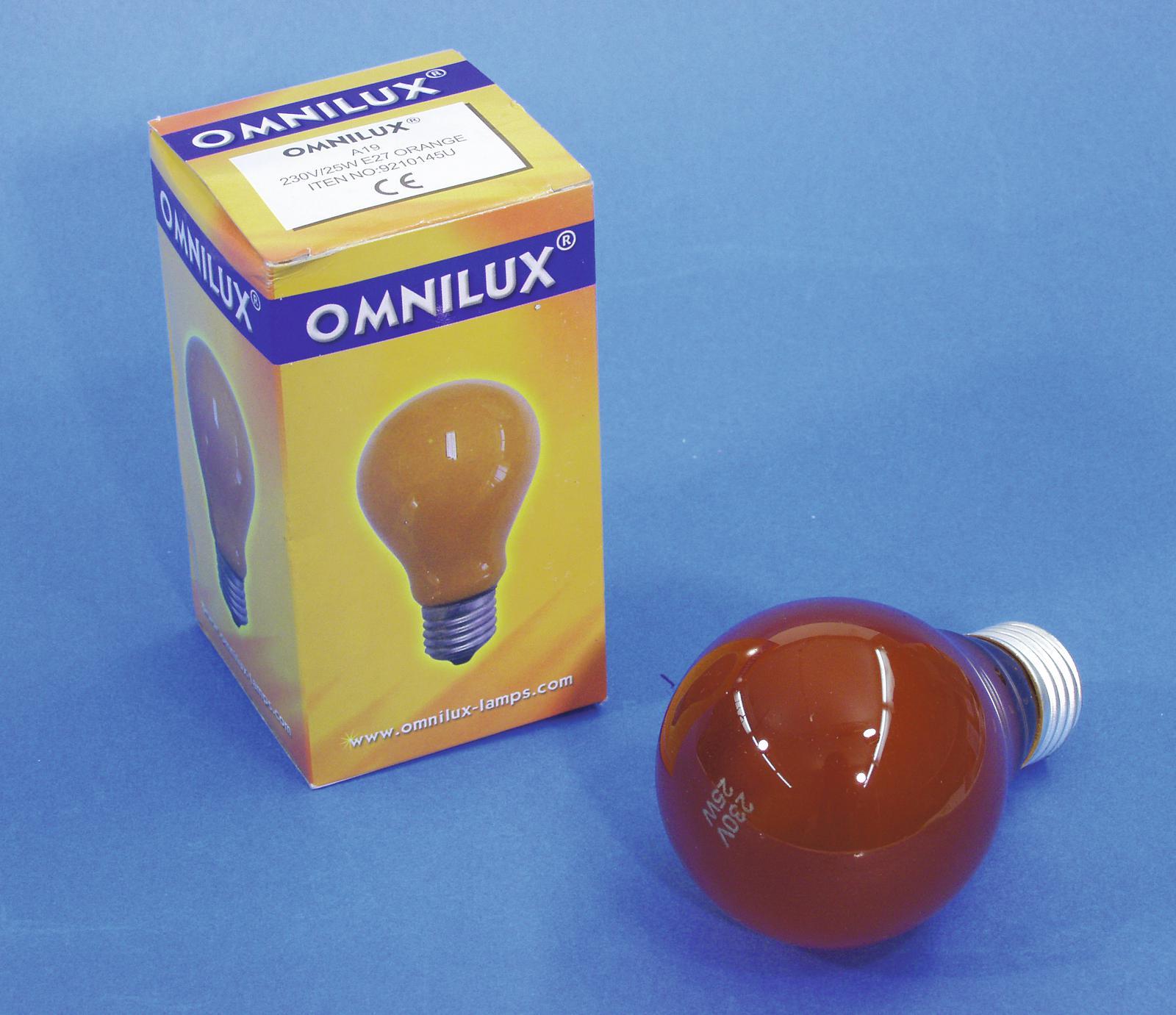 OMNILUX A19 230V 25W/E-27 arancione