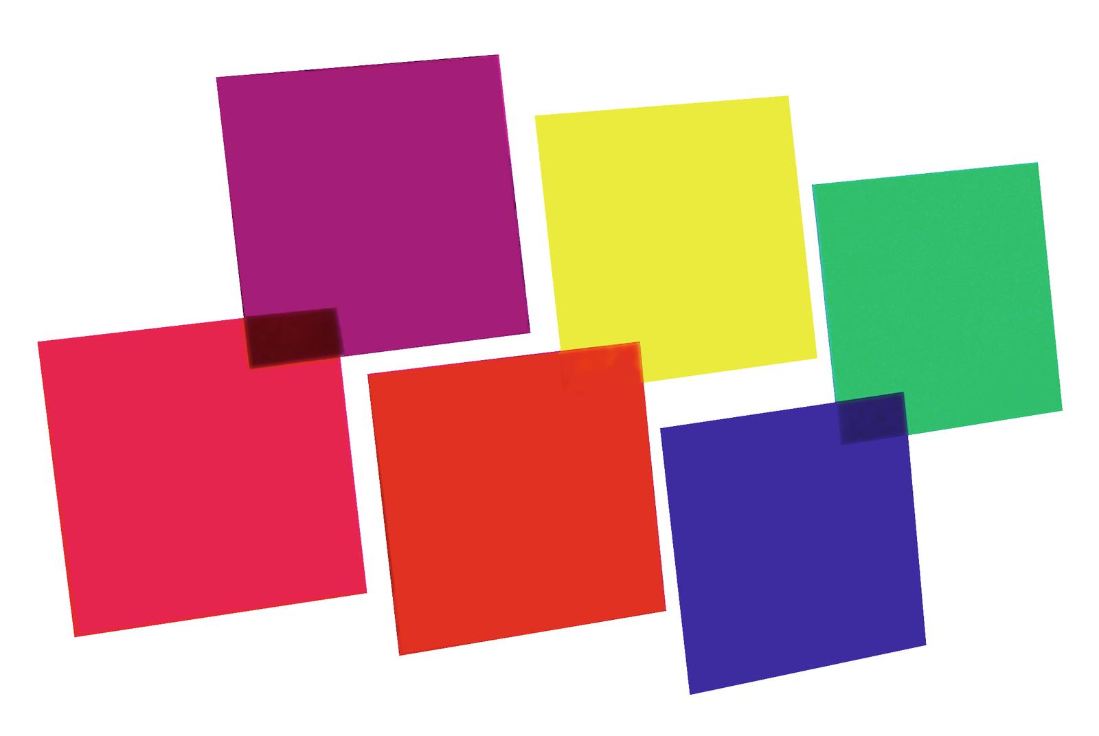 EUROLITE Colore-foil set 24x24cm,sei colori