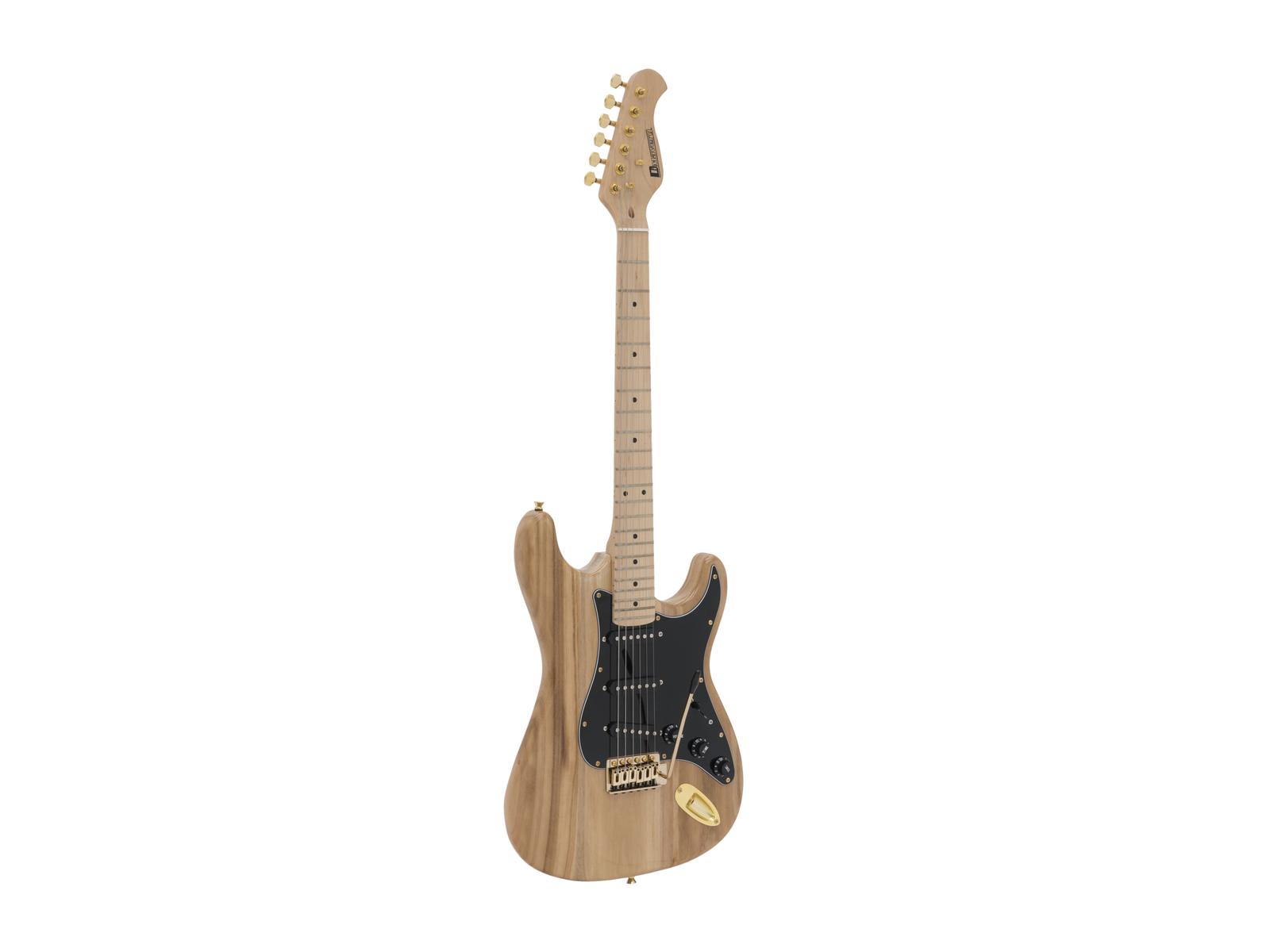 DIMAVERY ST-303 E-Gitarre, natur