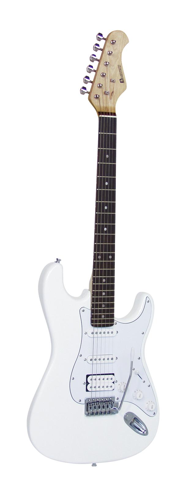 DIMAVERY ST-312 E-Gitarre, weiß