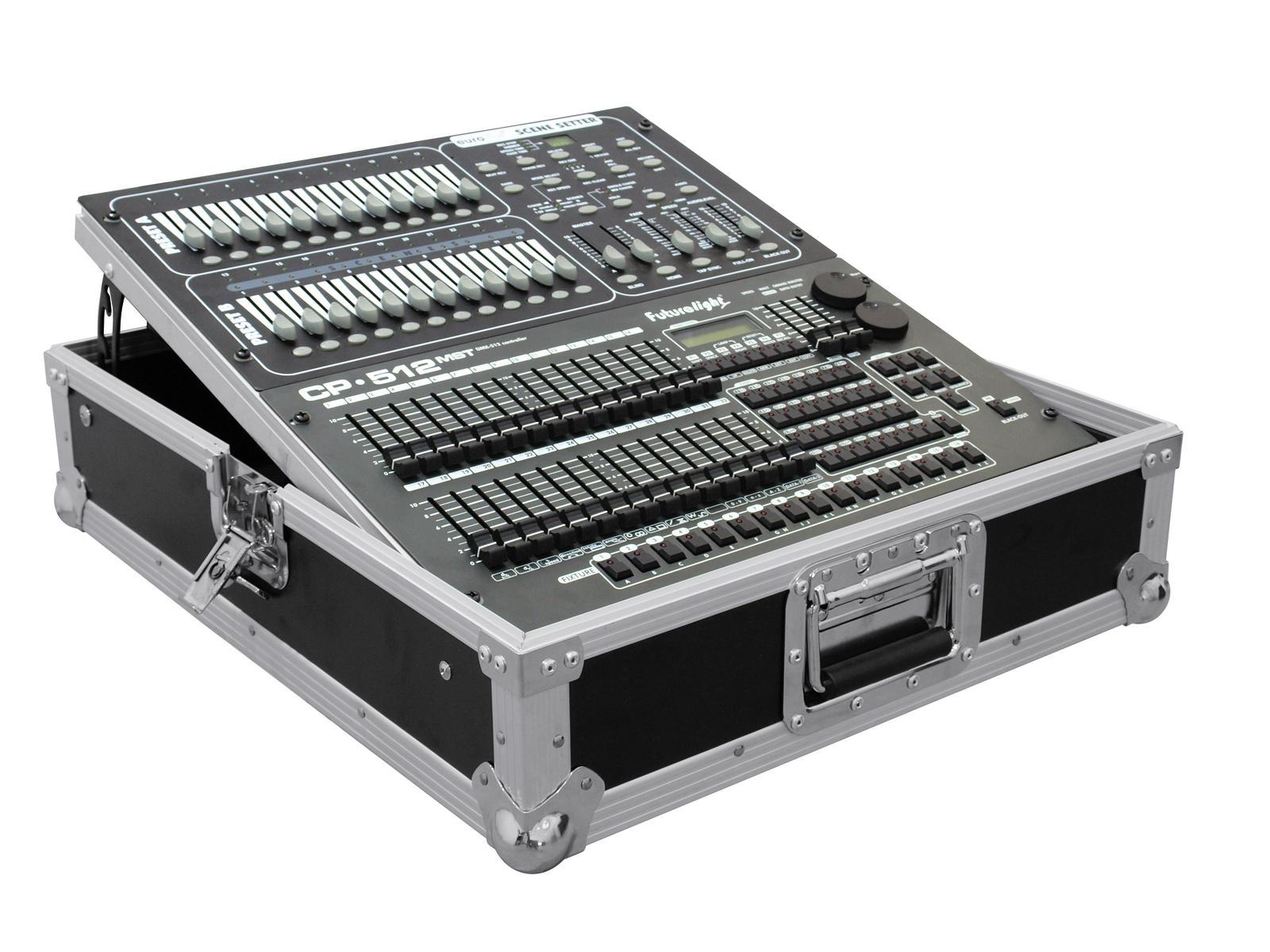 Flight Case Custodia per Dj Mixer Audio Luci Inclinato 12U Roadinger Pro MCV-19