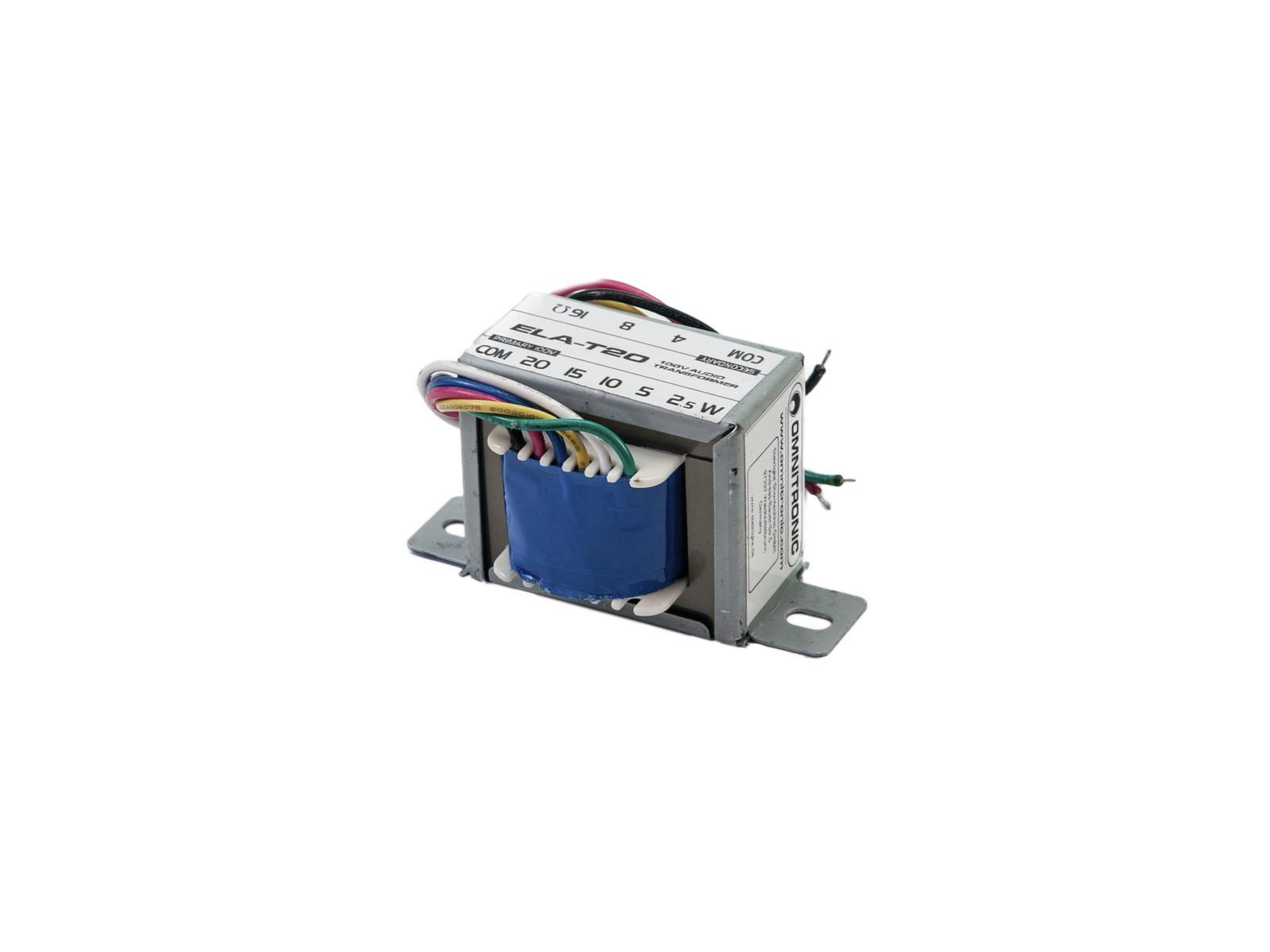 OMNITRONIC ELA-T20 Trasformatore audio da 20 Watt