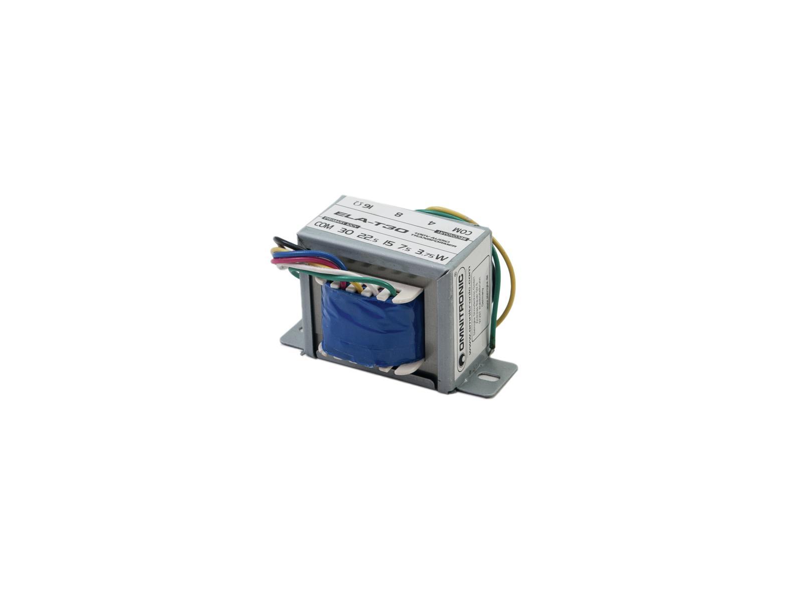 OMNITRONIC ELA-T30 Trasformatore audio da 30 Watt
