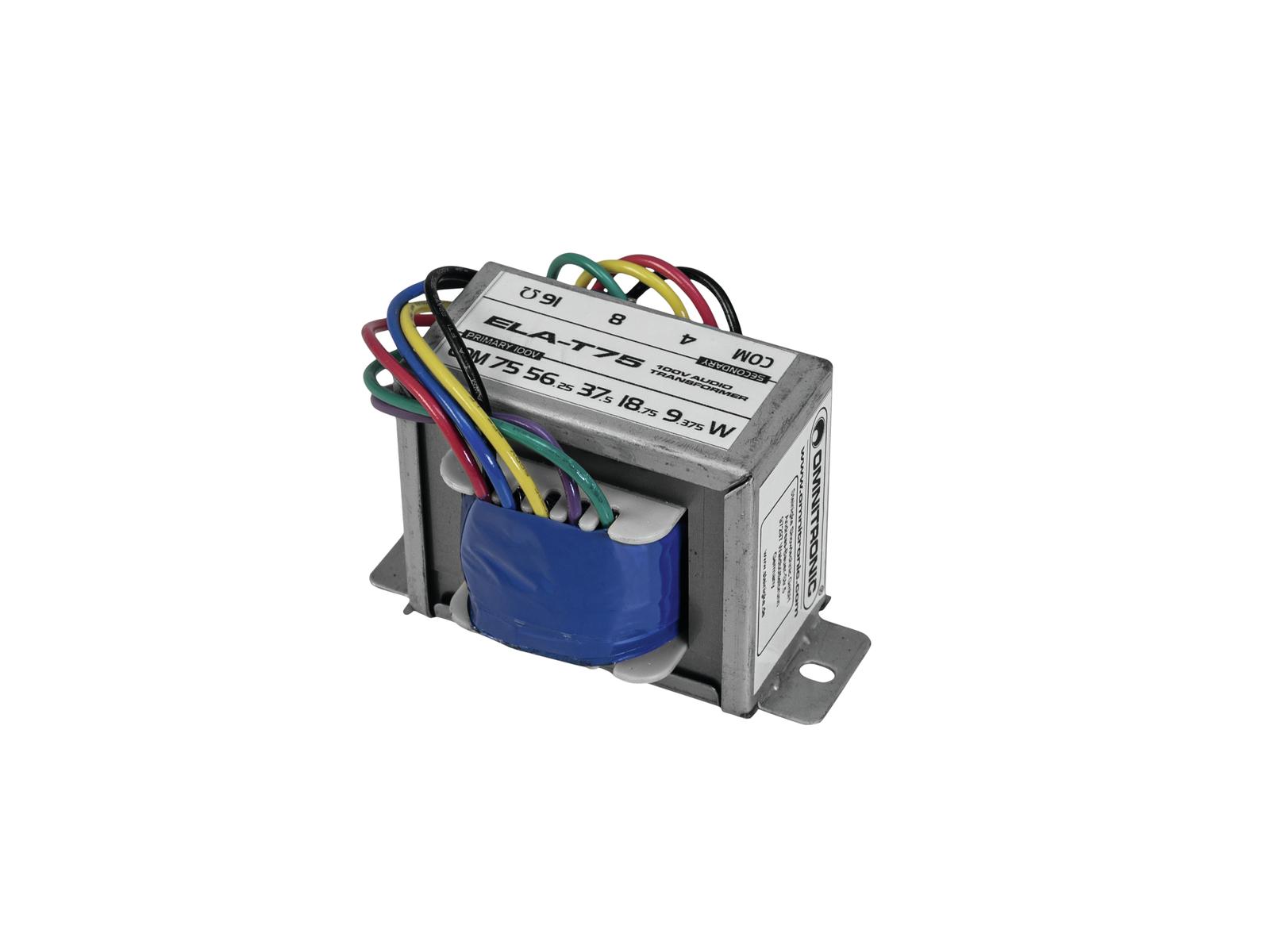 OMNITRONIC ELA-T75 Trasformatore audio da 75 Watt