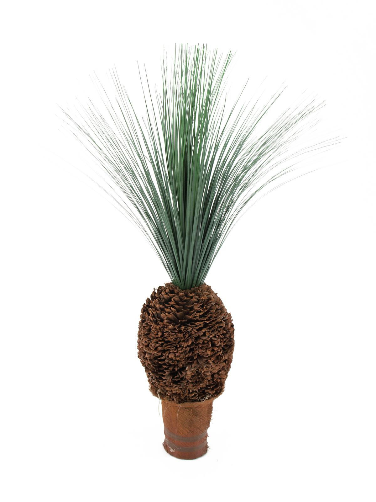 EUROPALMS pianta artificiale con foglie di palma busto a forma di ananas, 90cm