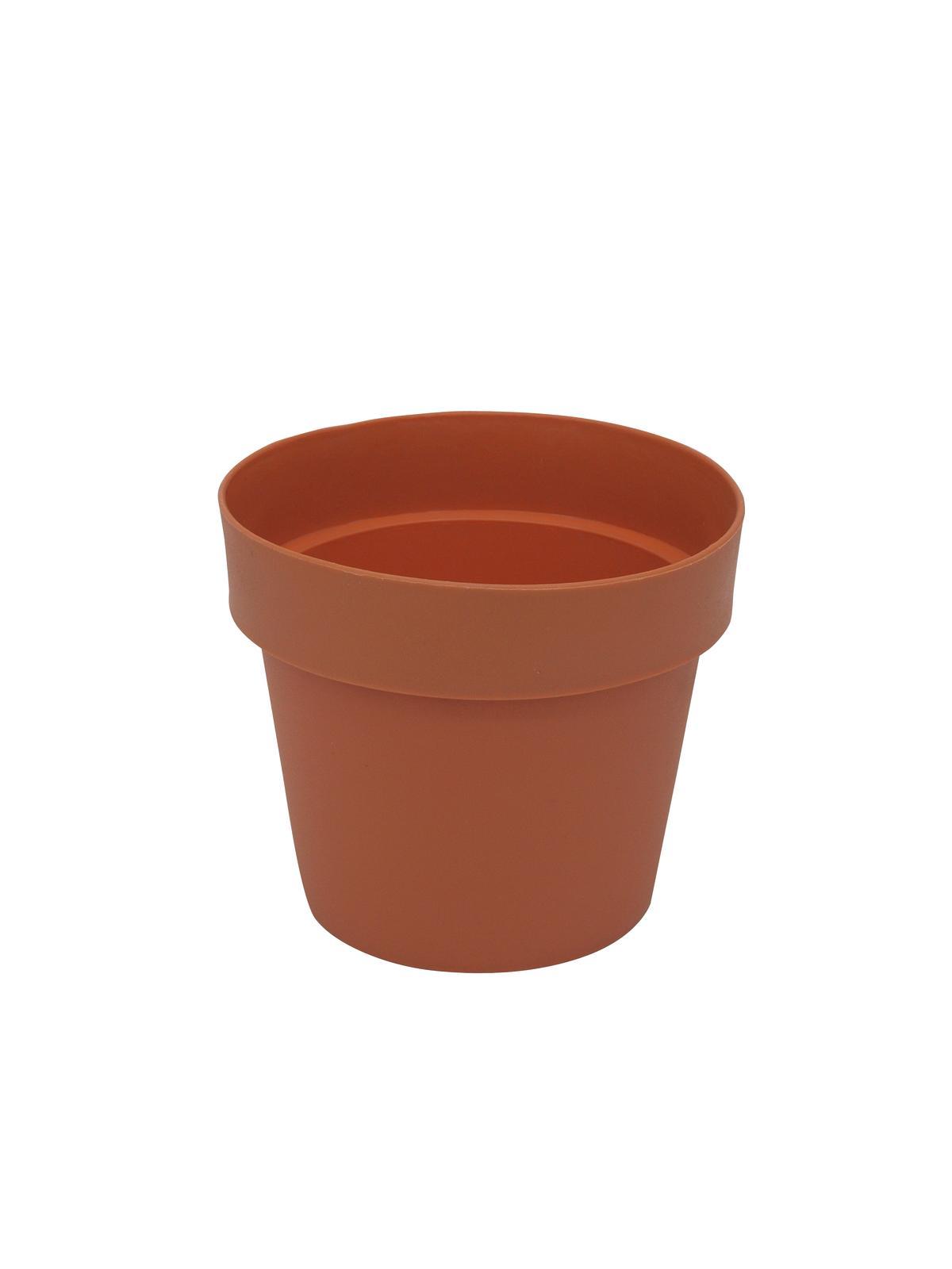EUROPALMS Fioriera Vaso in plastica, rosso, 20cm