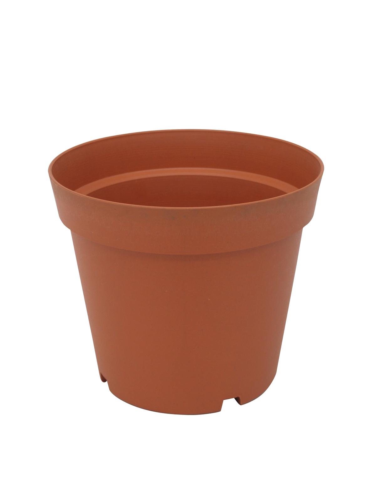 EUROPALMS Fioriera Vaso in plastica, rosso, 24cm