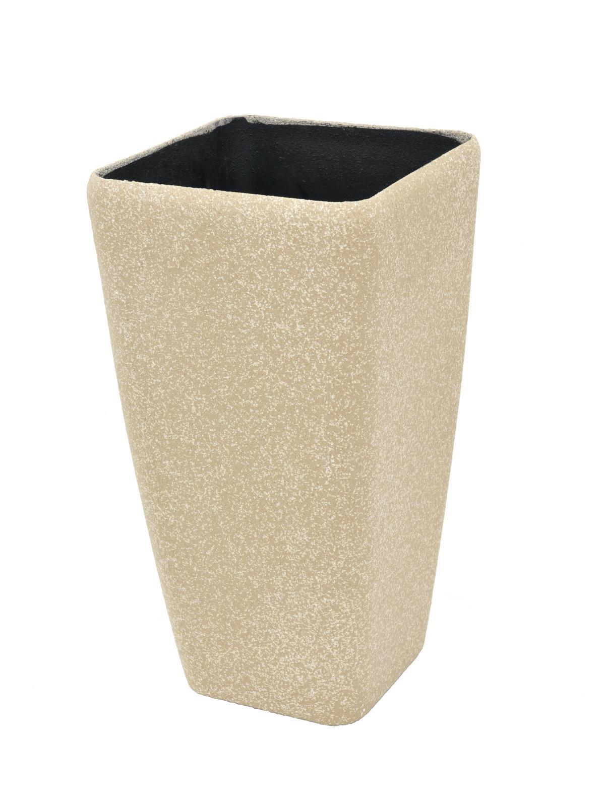 EUROPALMS Deco cachepot STONA-41, cubi, beige