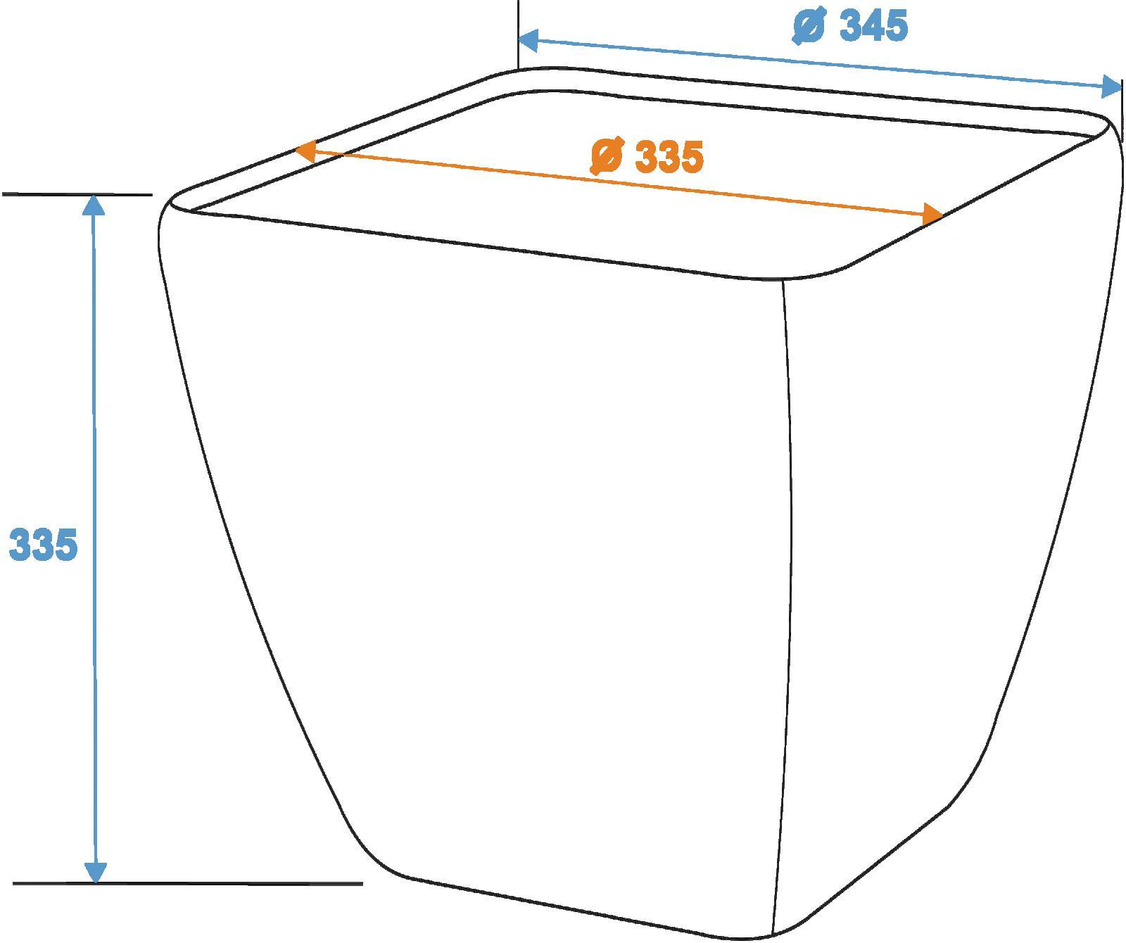 EUROPALMS Deco cachepot STONA-33, rettangolare,beige