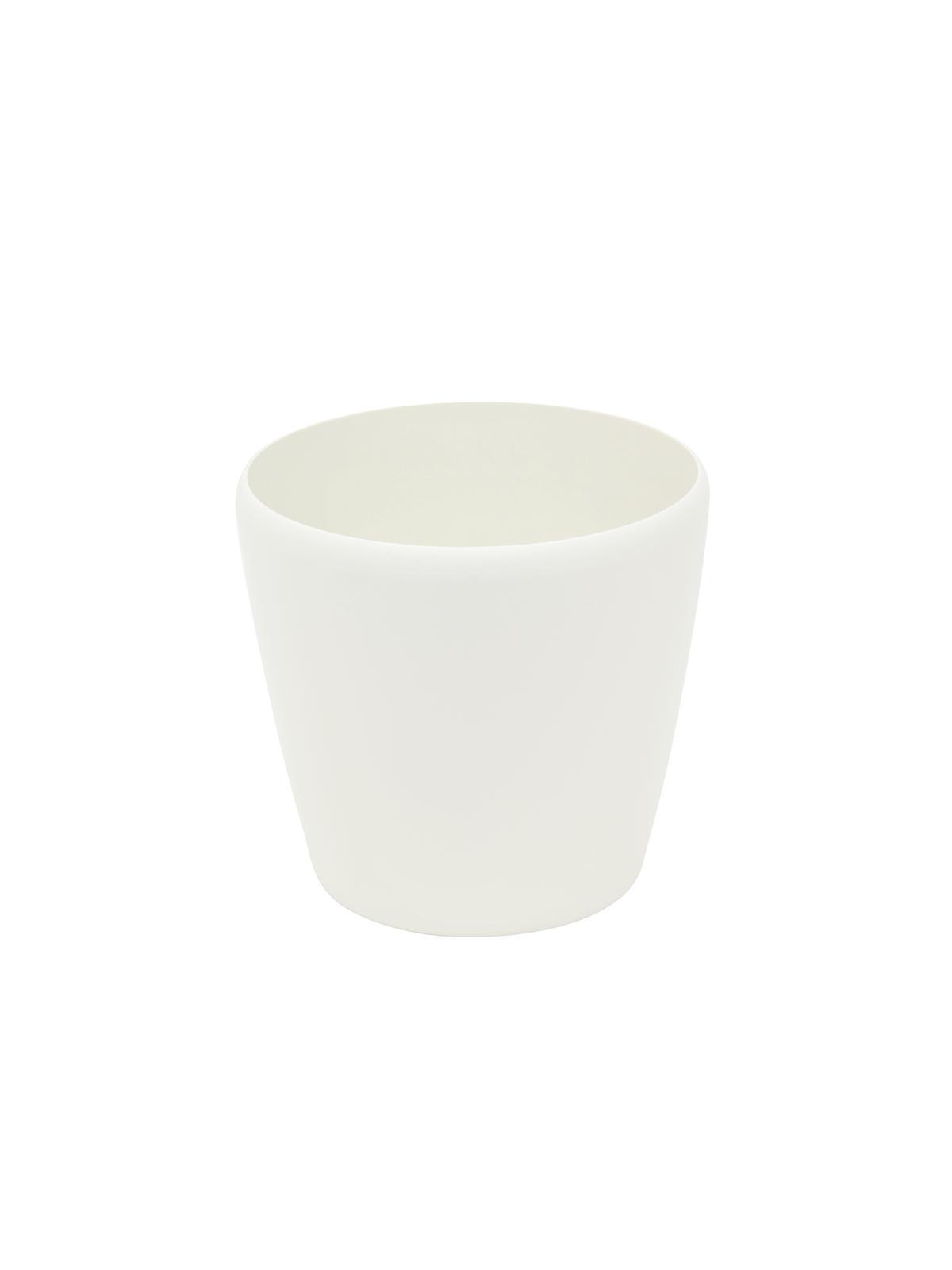 EUROPALMS Deco cachepot LUNA-26, rotondo, bianco