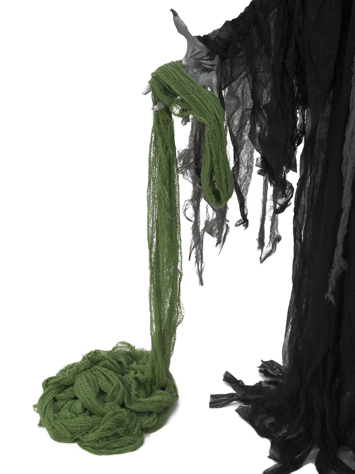 EUROPALMS Deco tessuto, ampio, verde, 76x500cm