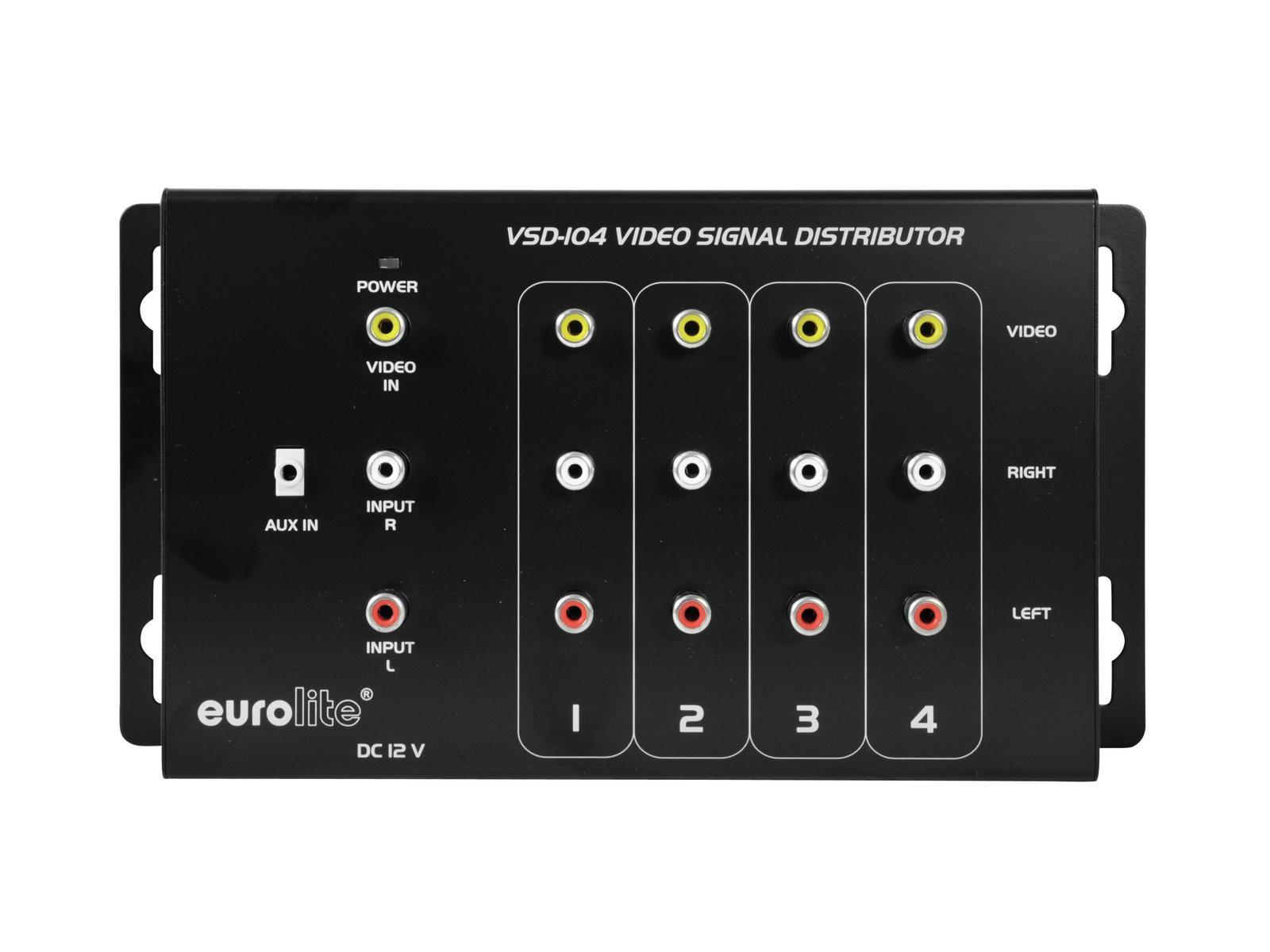 EUROLITE VSD-104 Videoverteiler 1in4