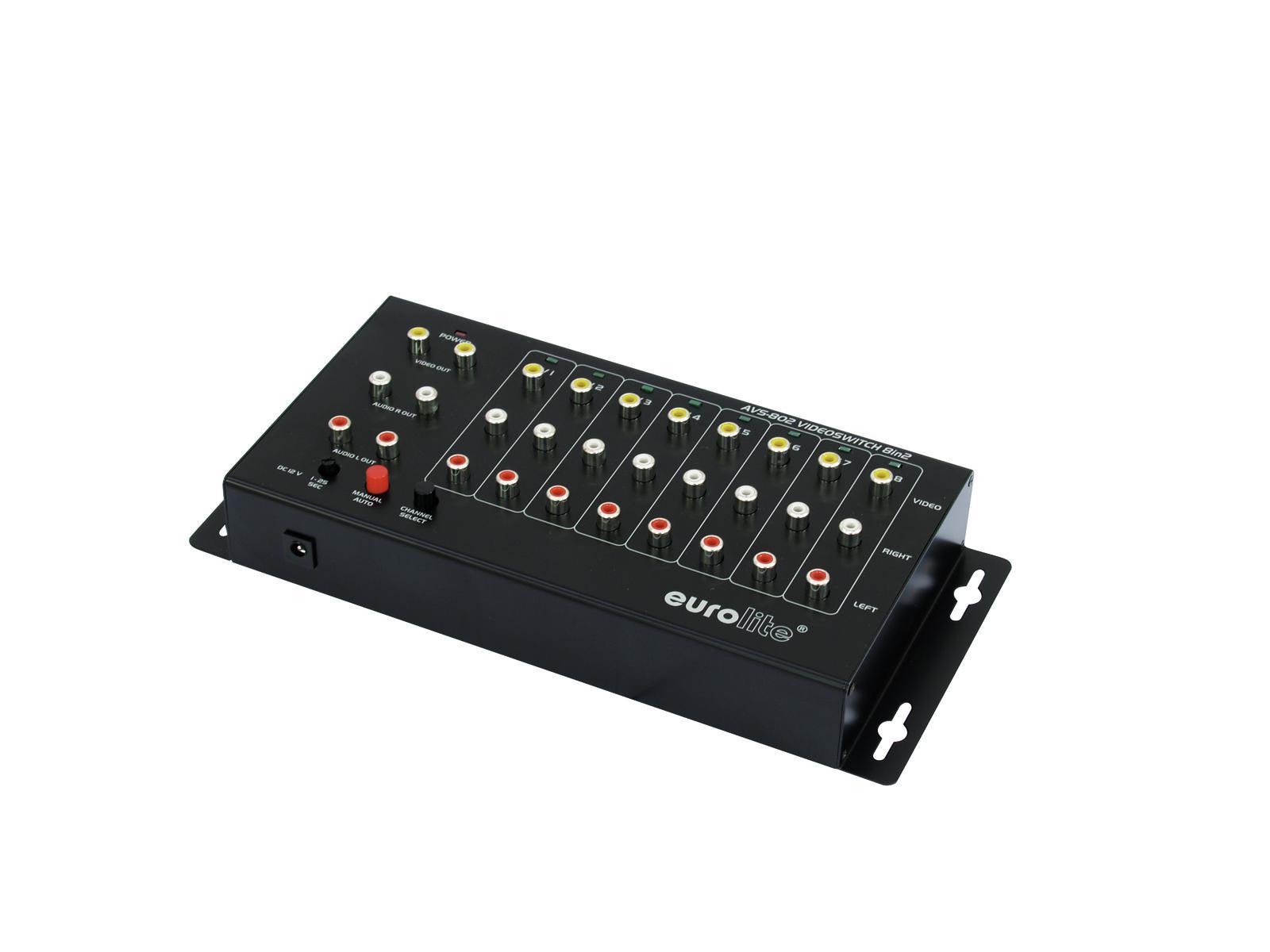 EUROLITE AVS-802 switch Video 8in2