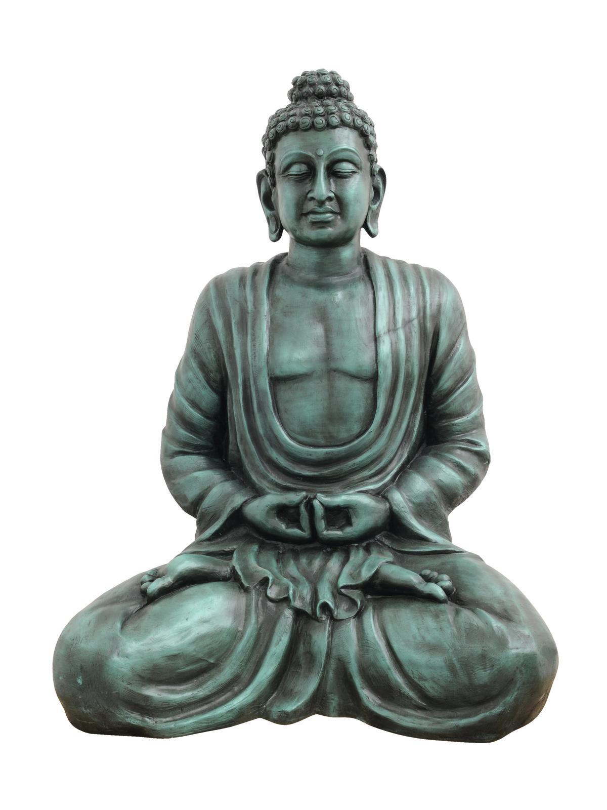 EUROPALMS Buddha, antik-schwarz, 120cm