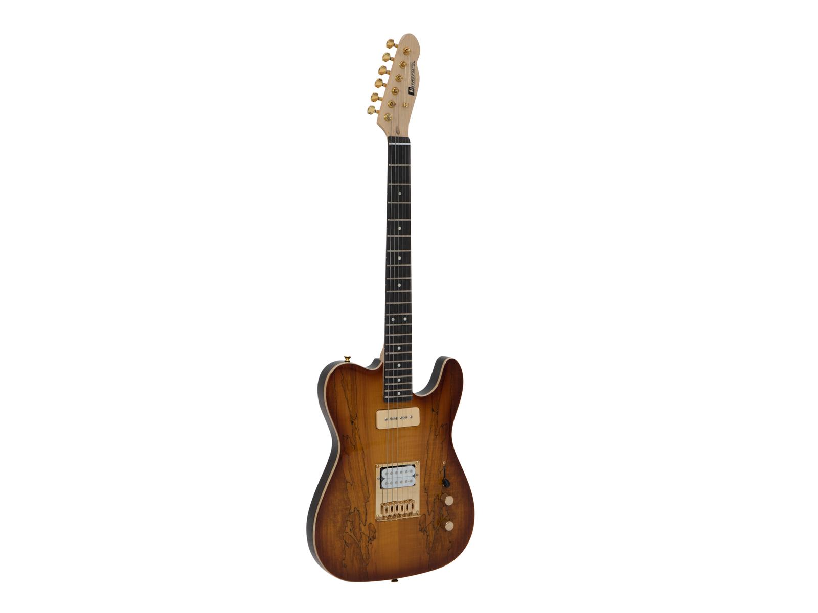 DIMAVERY TL-501 Prestigio E-Guitar, Spalted Maple