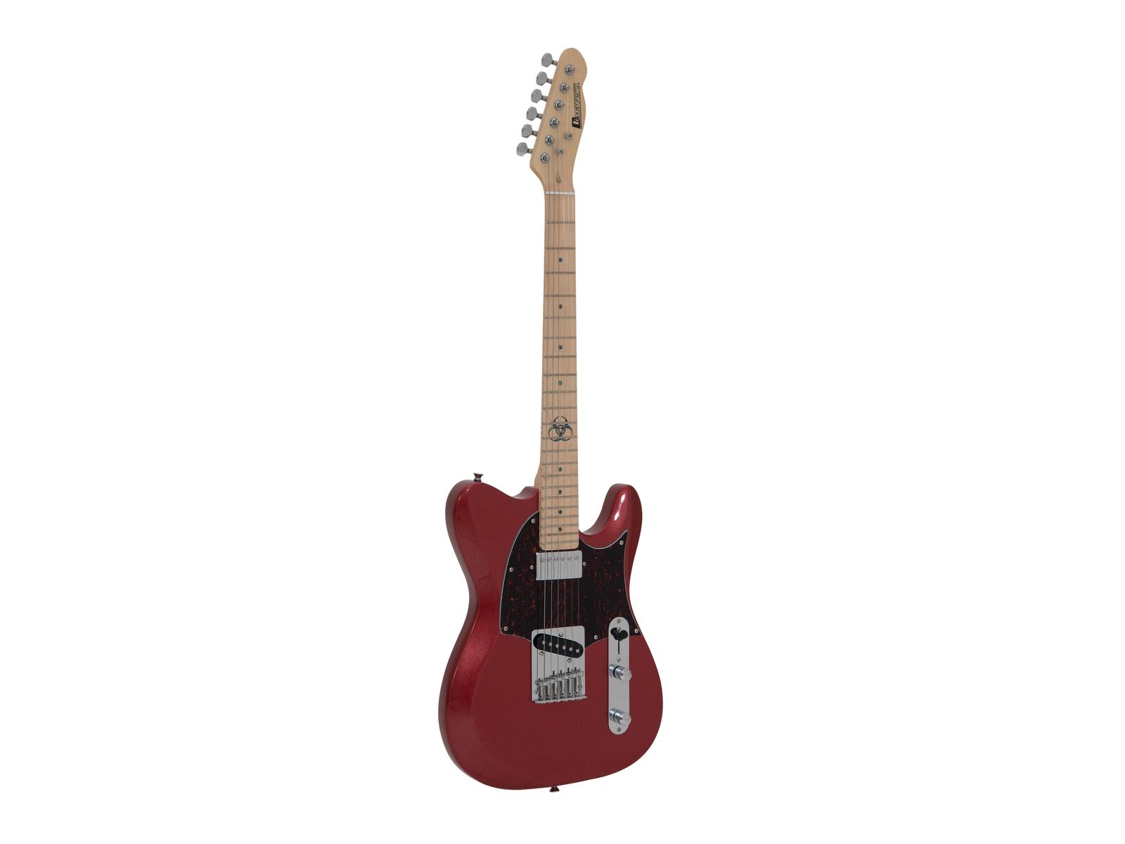 DIMAVERY TL-501 Moderna, E-Guitar, rosso sparkle