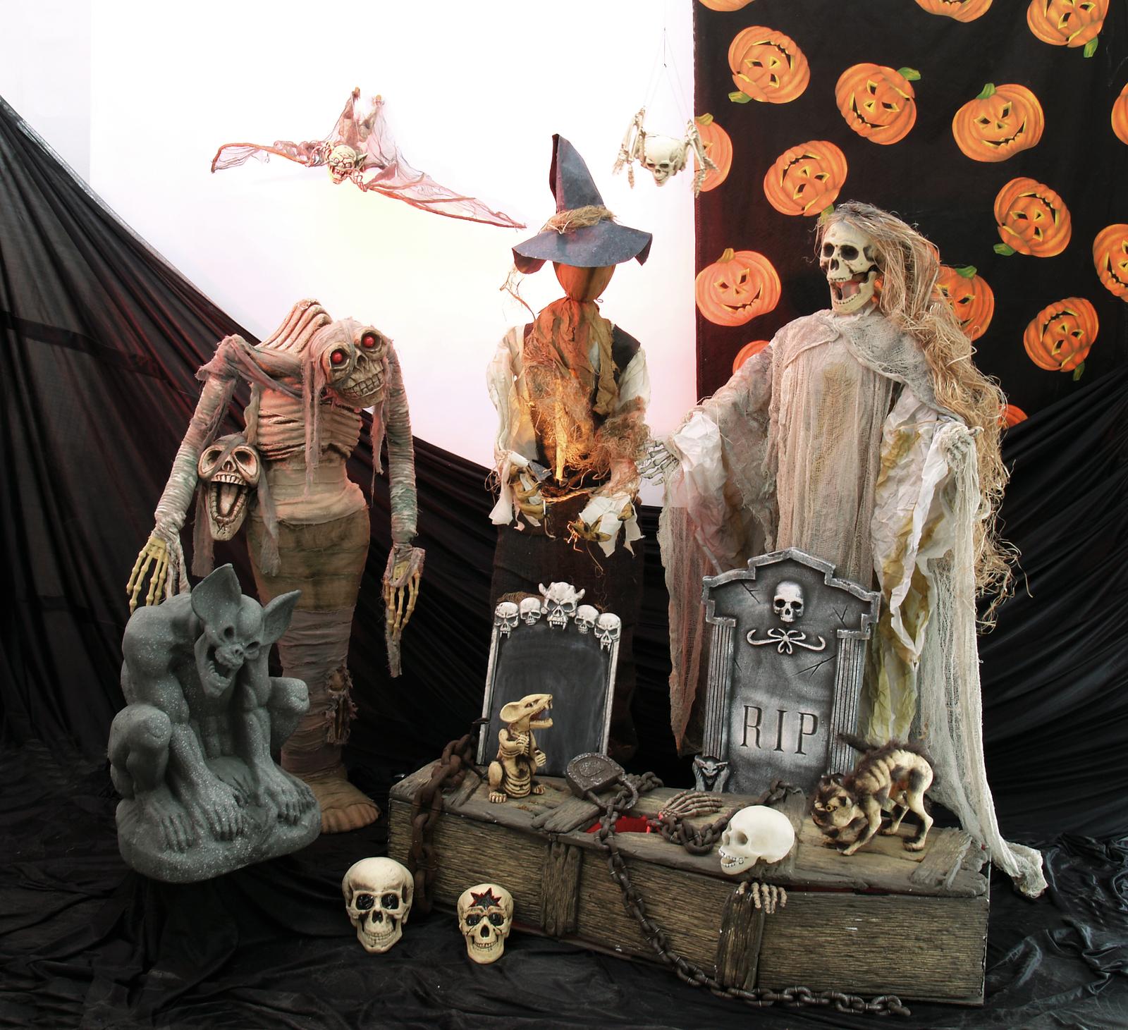 EUROPALMS Catena arrugginita ornamento per festa halloween 100cm