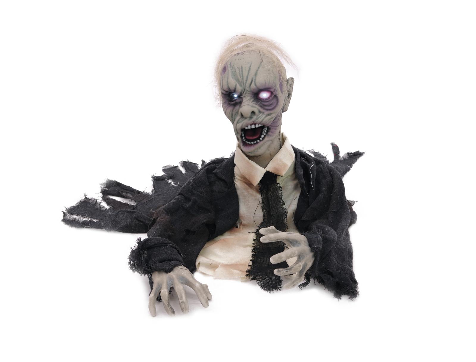 EUROPALMS Halloween Zombie, animiert 43cm