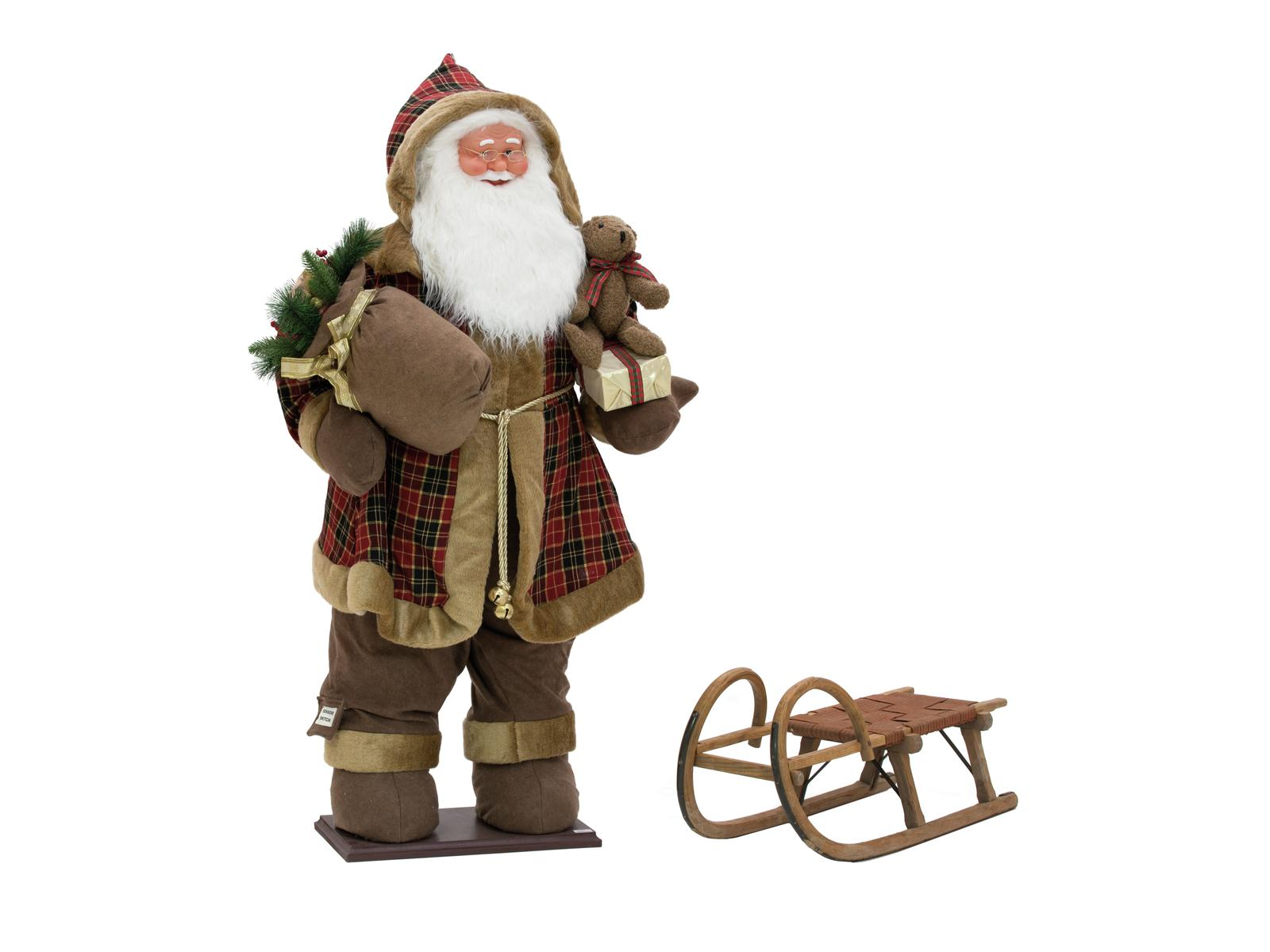 Santa claus inflatable santa claus 160 cm with integrated pump europalms