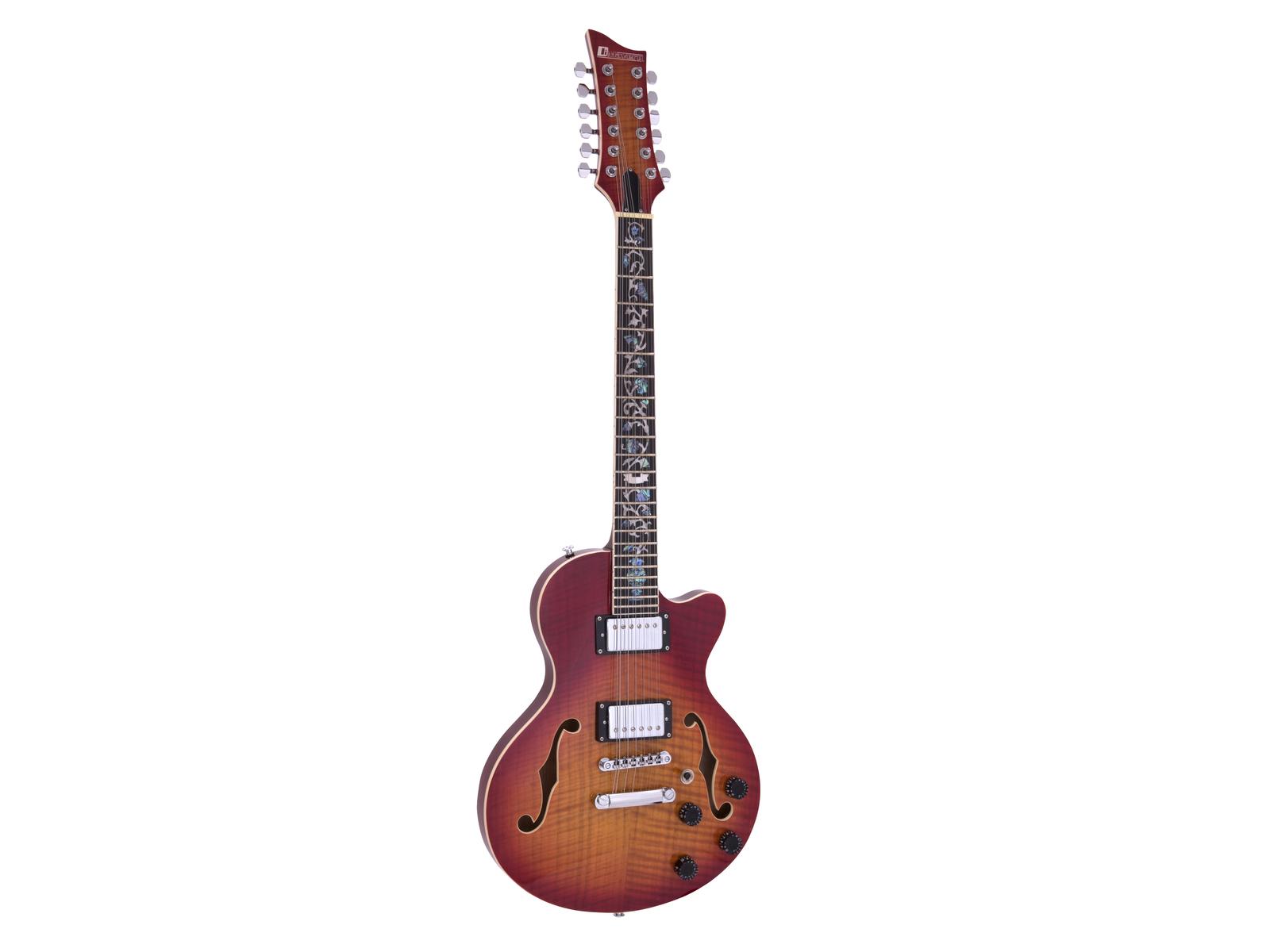 DIMAVERY LP-612 E-Gitarre, flamed sunburst
