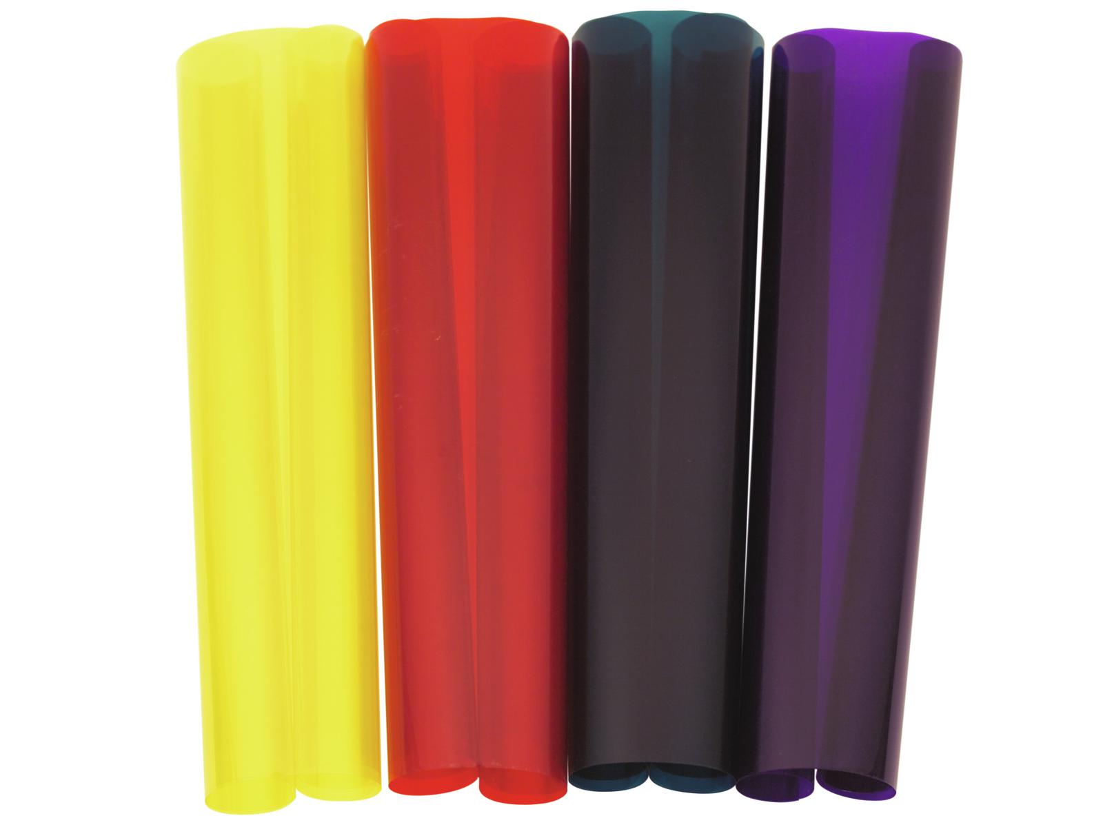 Gelatina Rotolo Foglio Filtro Per Tubo neon led 010 50x58cm giallo Eurolite