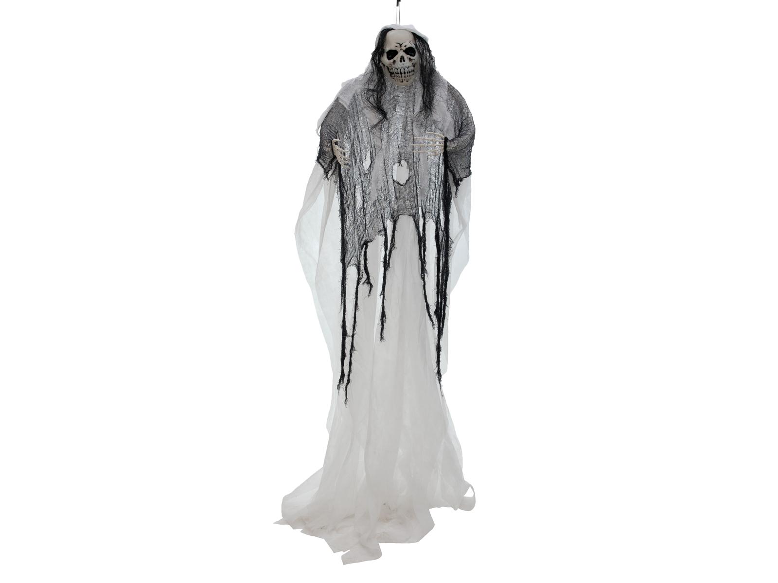 EUROPALMS Halloween Figura di Donna Bianca, Bagliore nel Buio, 210cm