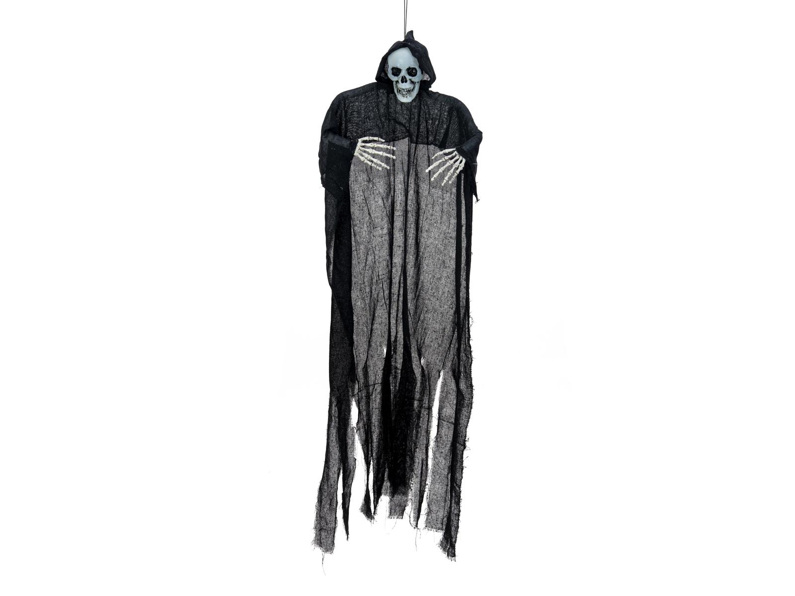 EUROPALMS Halloween Figura Nera Scheletro, Bagliore nel Buio, 130