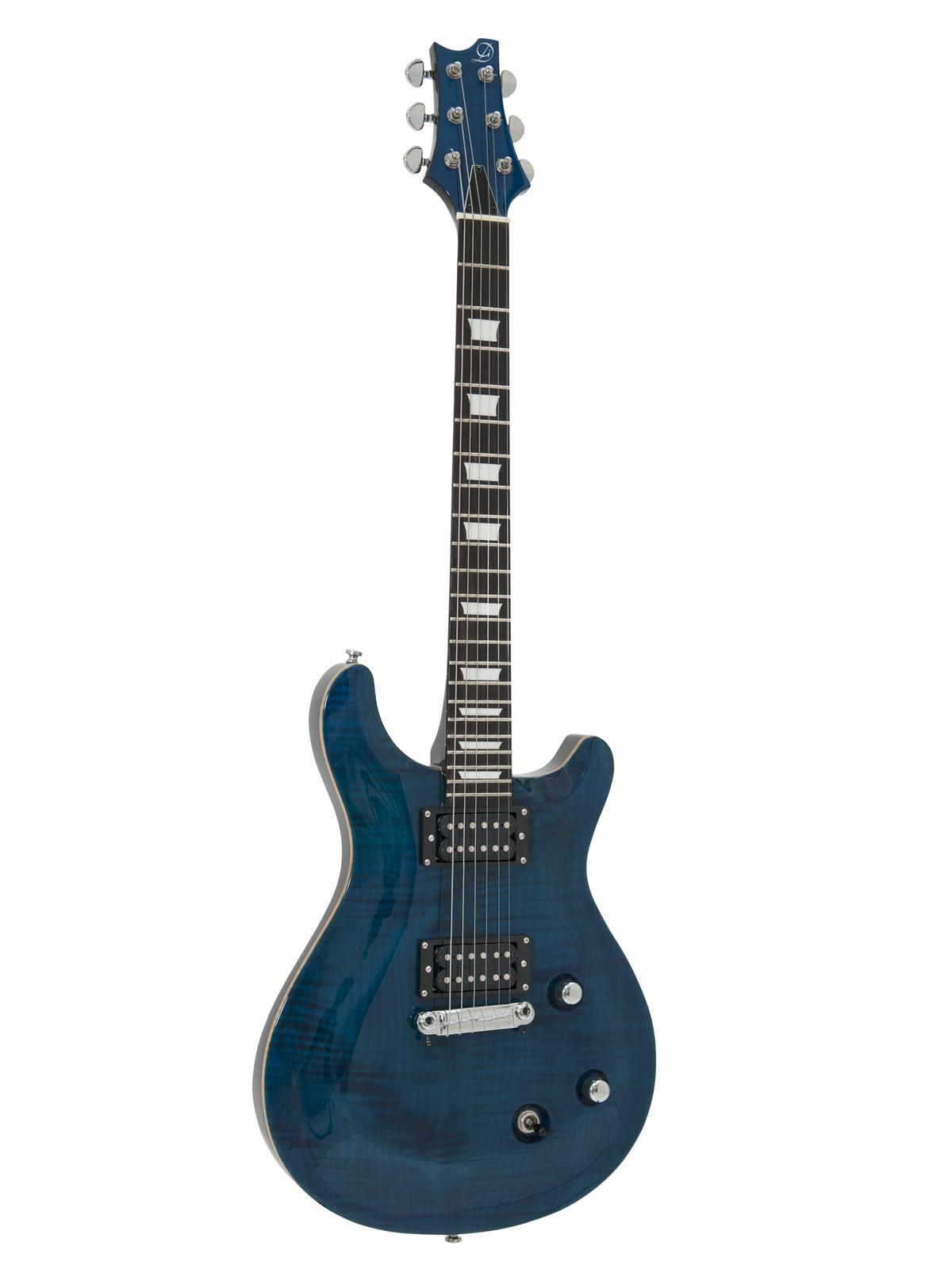 Chitarra Elettrica doppia spalla mancante, fiamma Blue, Dimavery DP-600