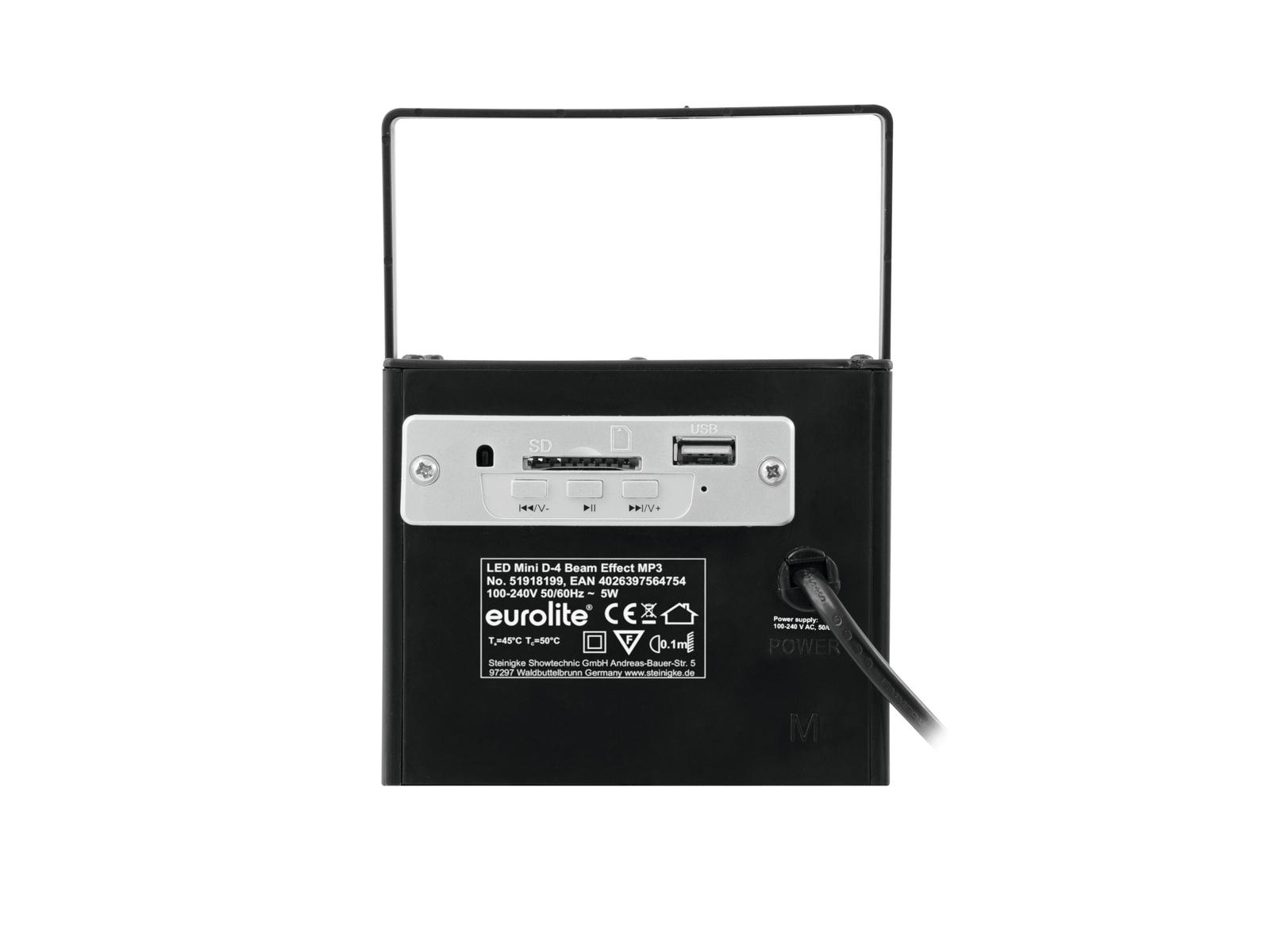Effetto Luce a led Speaker MP3 con telecomando USB - SD CARD Eurolite Beam D-4