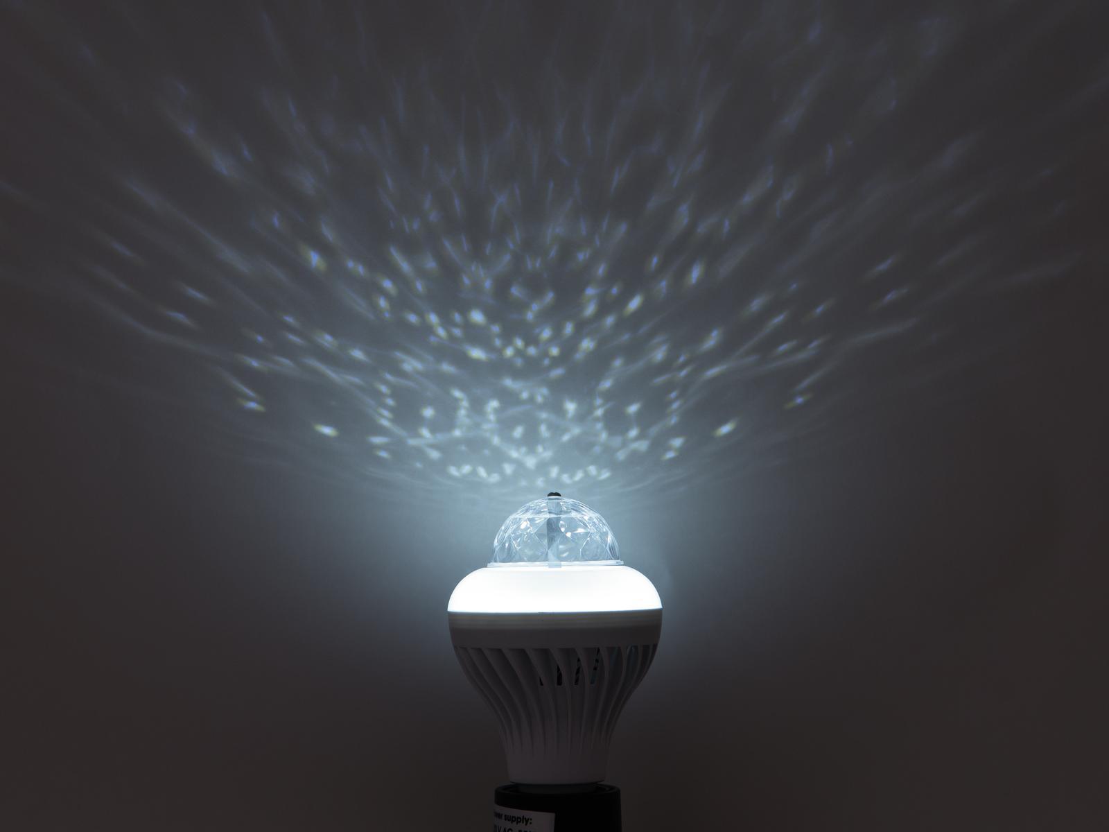 Lampada a led cambiacolori multicolor 230V 12W E27 Hybrid Beam effect BCL-1