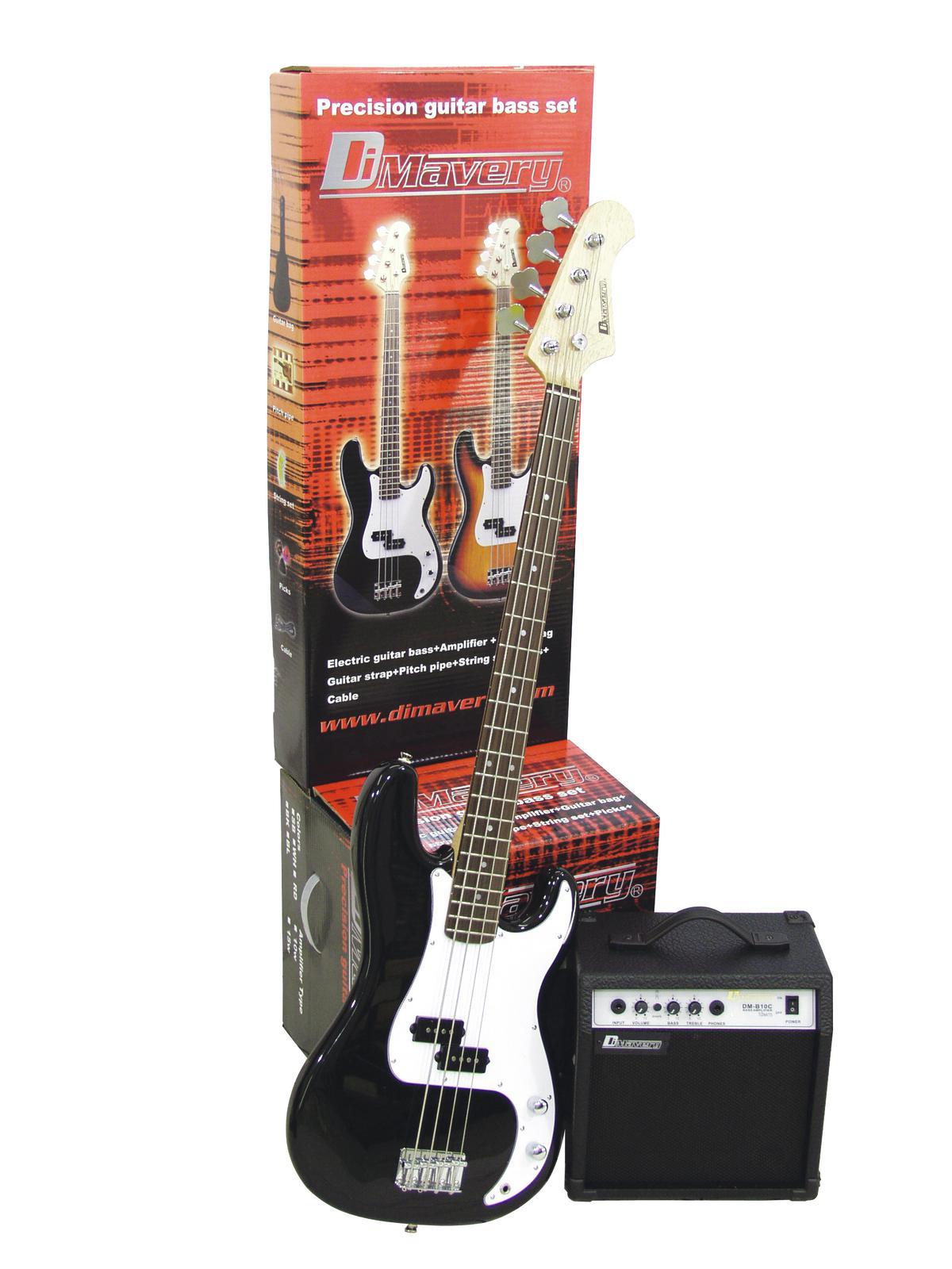 DIMAVERY BGS-10 E-Bass, nero