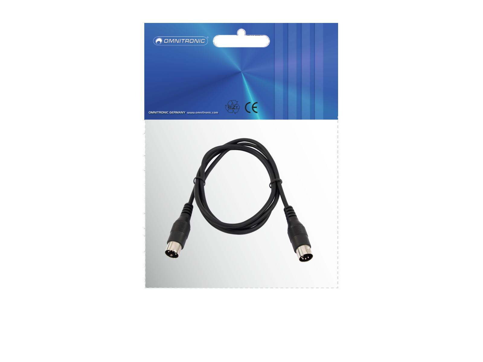 OMNITRONIC DIN Cable 5pin MIDI 1.2 m